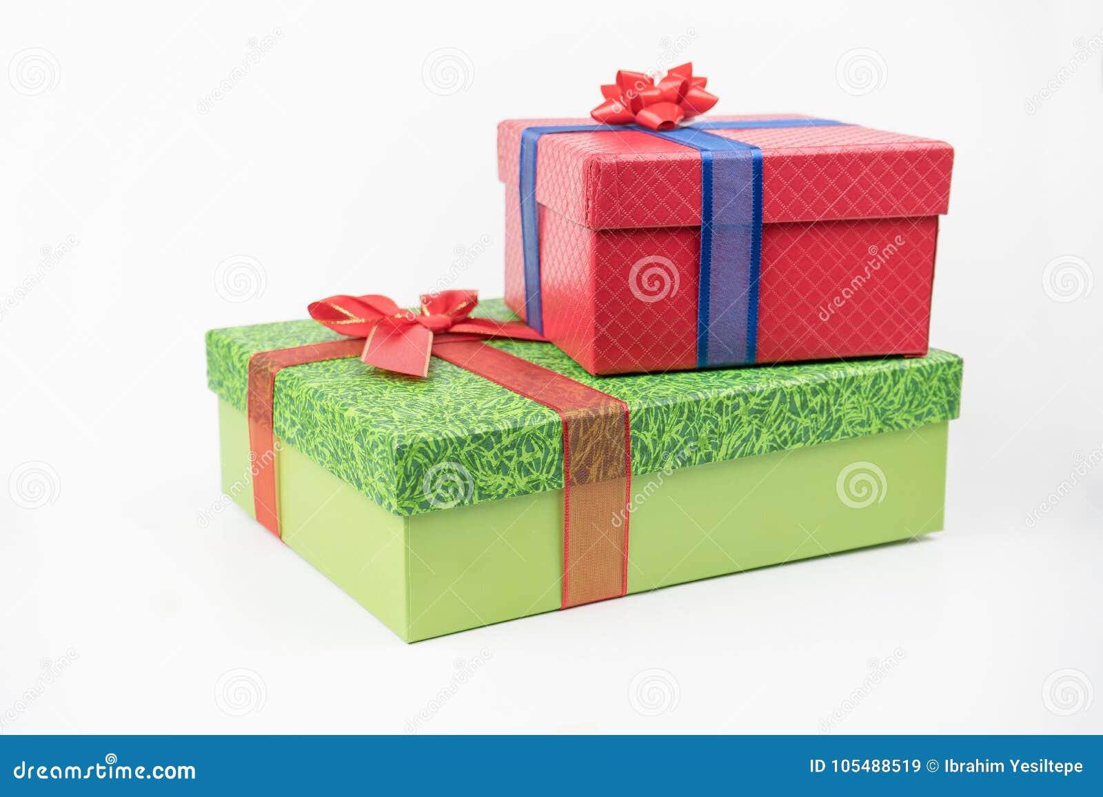 Färgrika gåvapackar, nytt år, dag för valentin` s