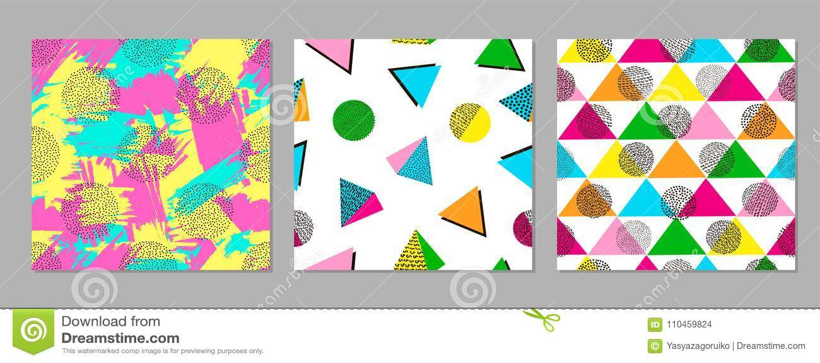 Färgrika geometriska sömlösa modeller ljusa bakgrunder moderiktigt