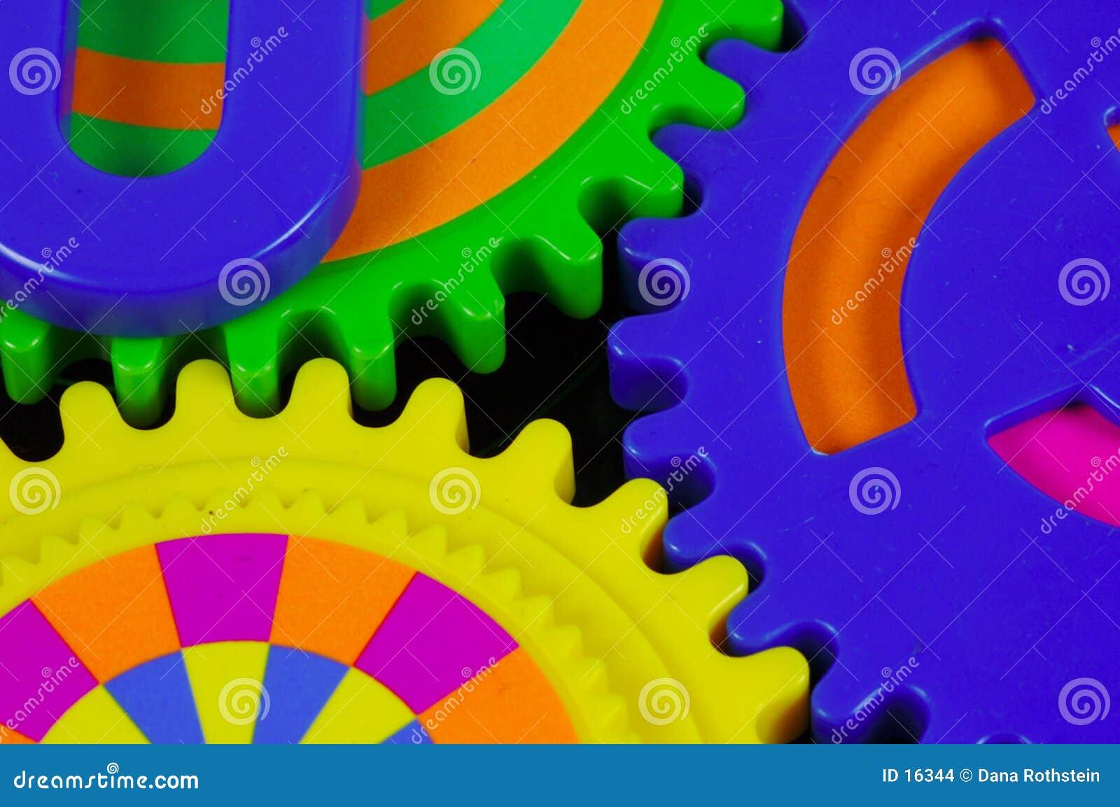 Färgrika kugghjul