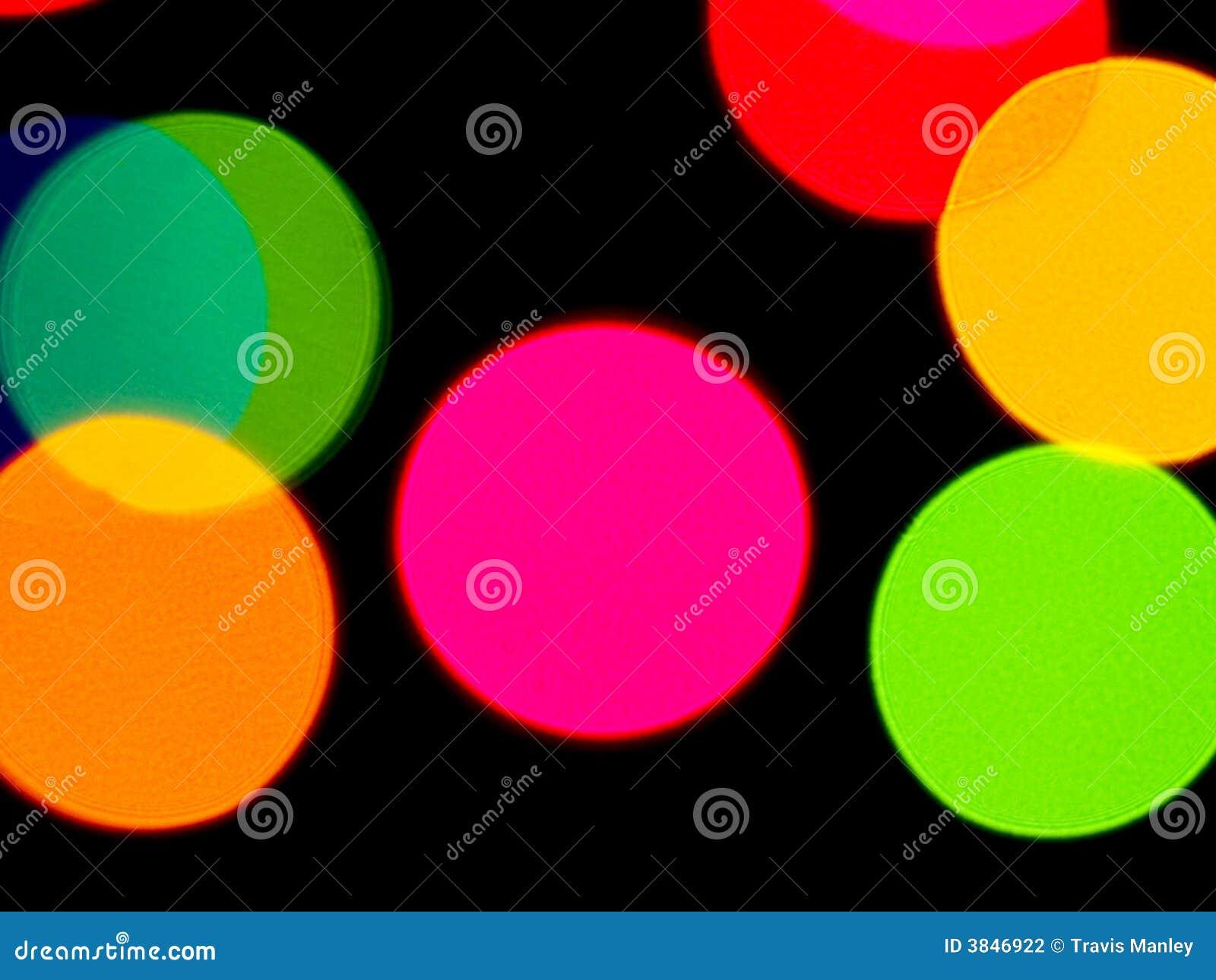 Färgrika lampor för bakgrund
