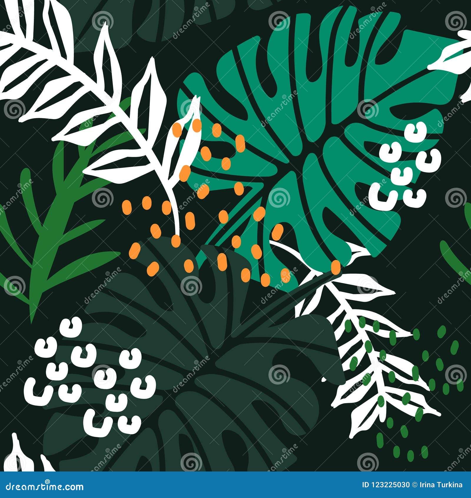 Färgrika leaves mönsan seamless
