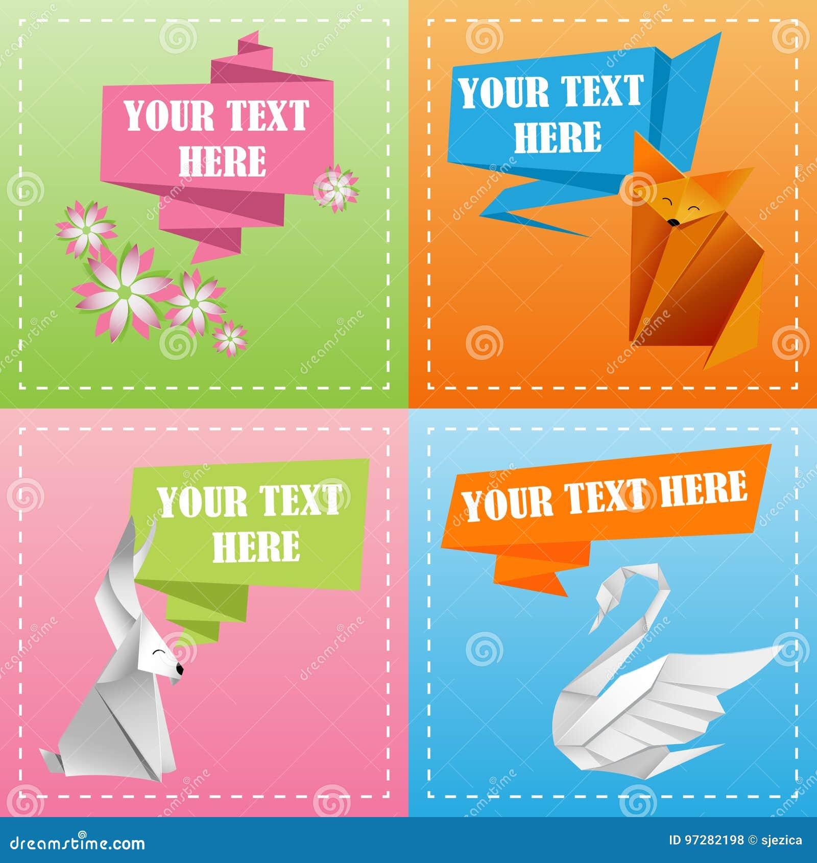 Färgrika origamimallar