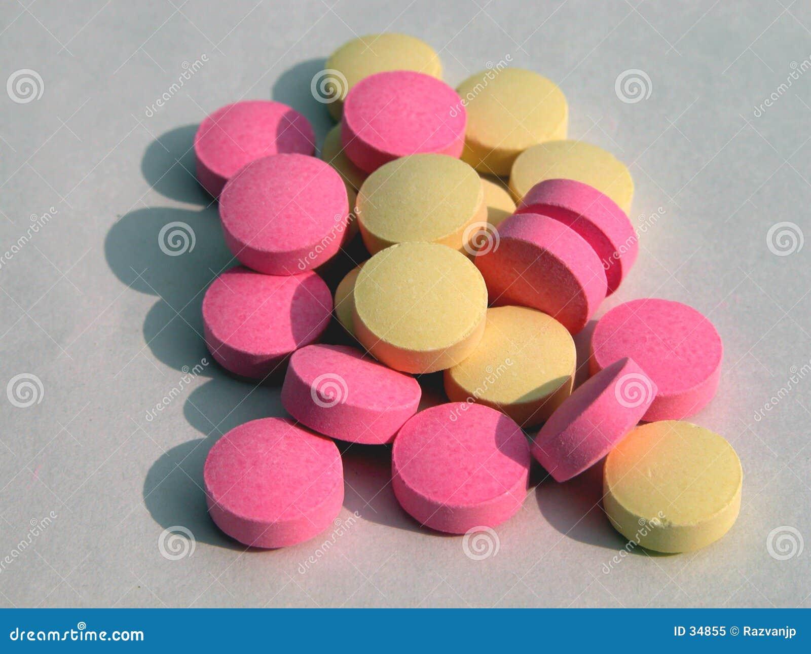 Färgrika pills