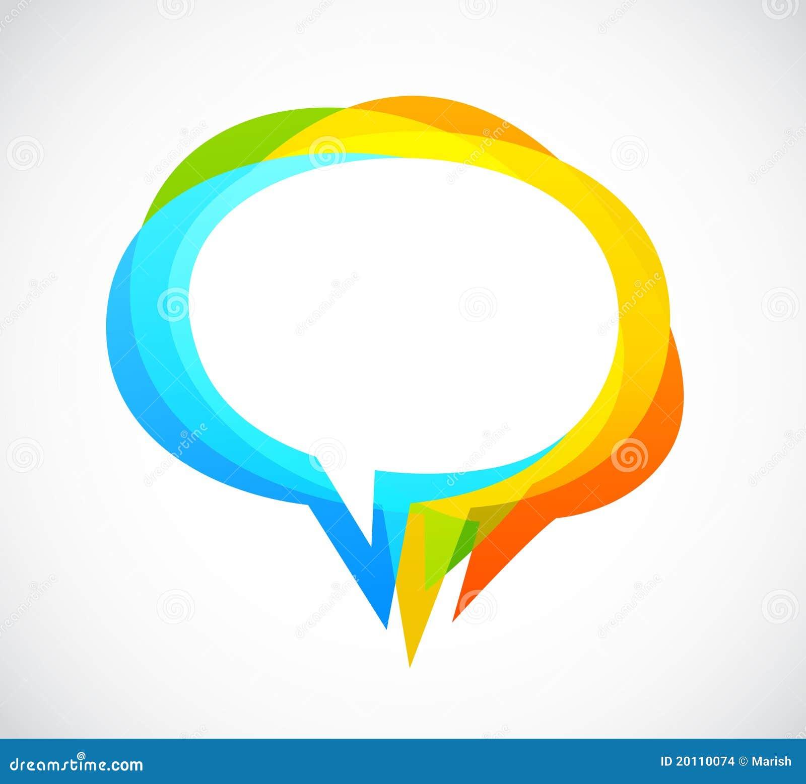 Färgrikt anförande för abstrakt bakgrundsbubbla