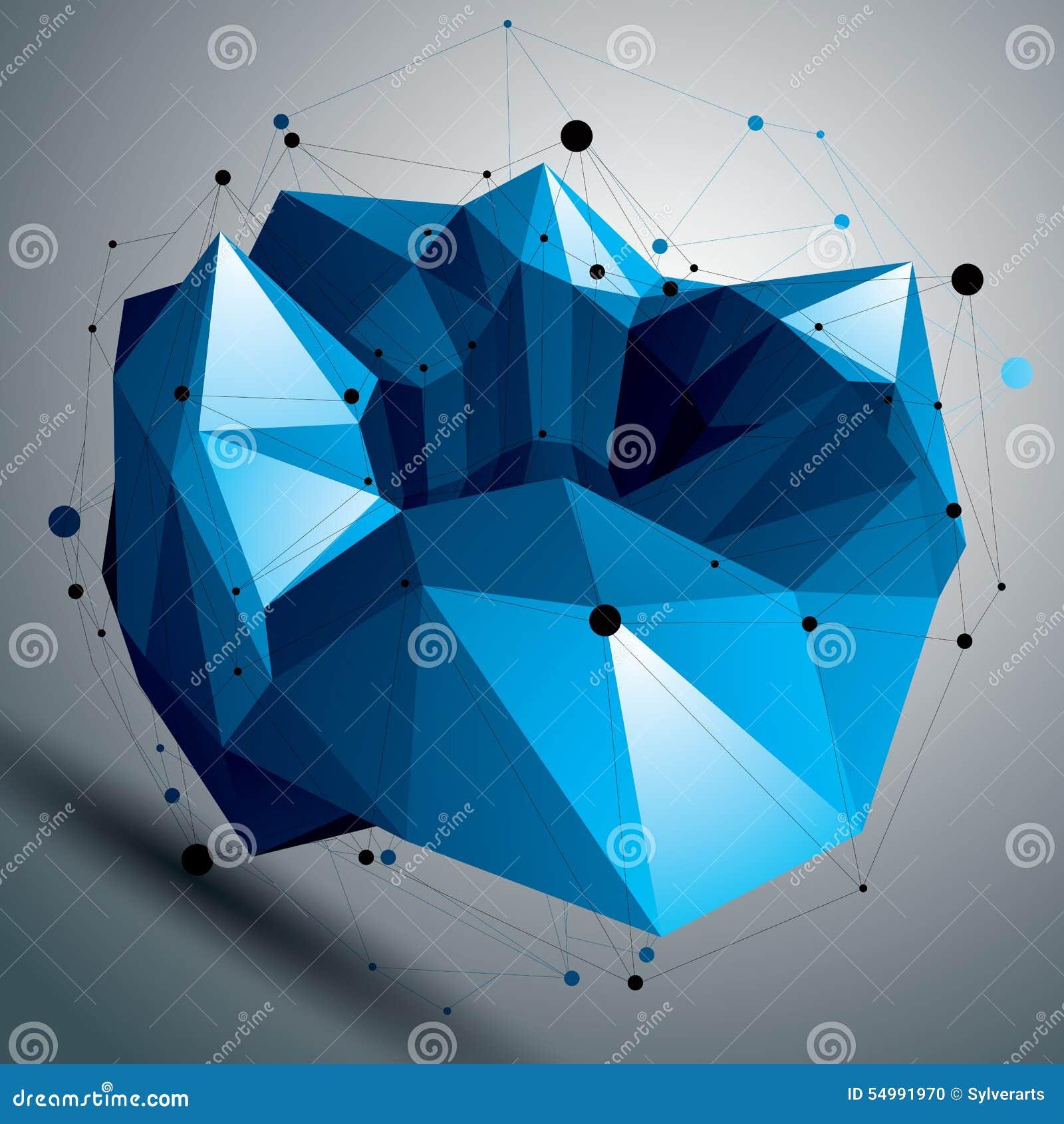 Färgrikt digitalt objekt för rumslig vektor, 3d teknologi f