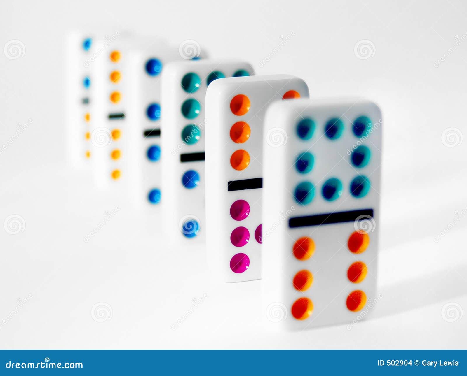 Färgrikt domino