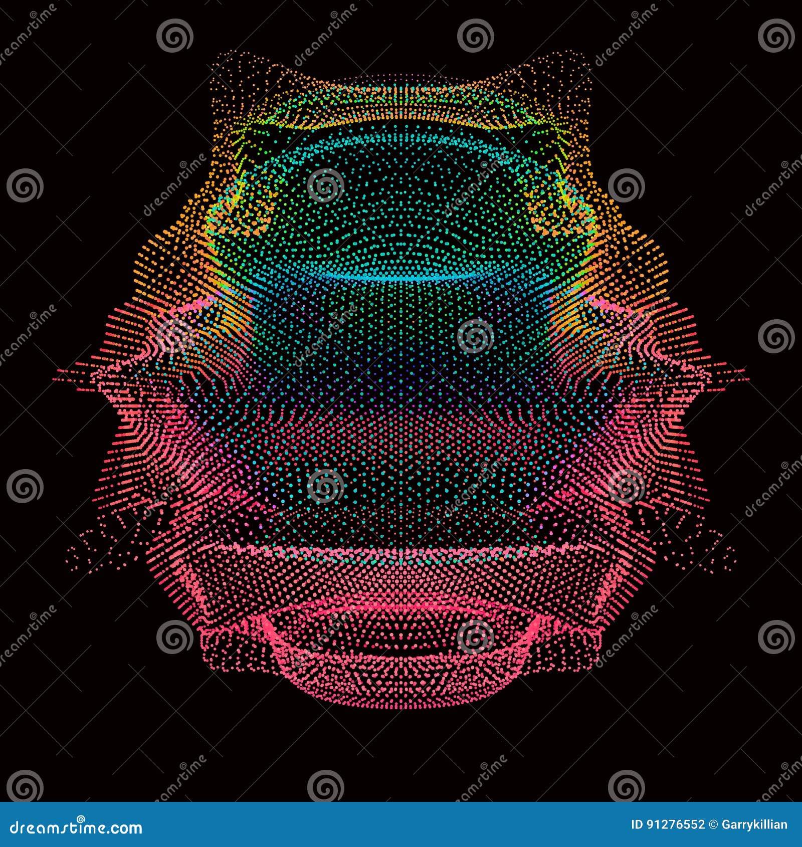 Färgrikt ingrepp för abstrakt vektor på mörk bakgrund Futuristiskt stilkort