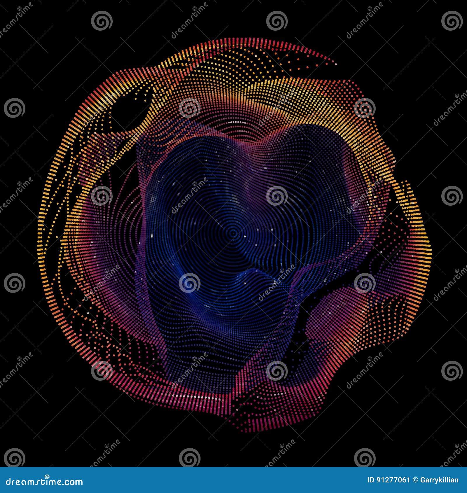 Färgrikt ingrepp för abstrakt vektor på mörk bakgrund Futuristiskt stilkort Elegant bakgrund för affärspresentationer