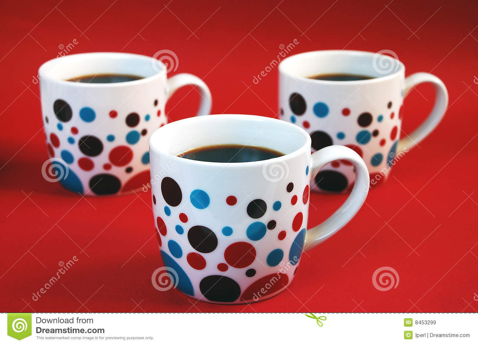 Färgrikt kaffe rånar