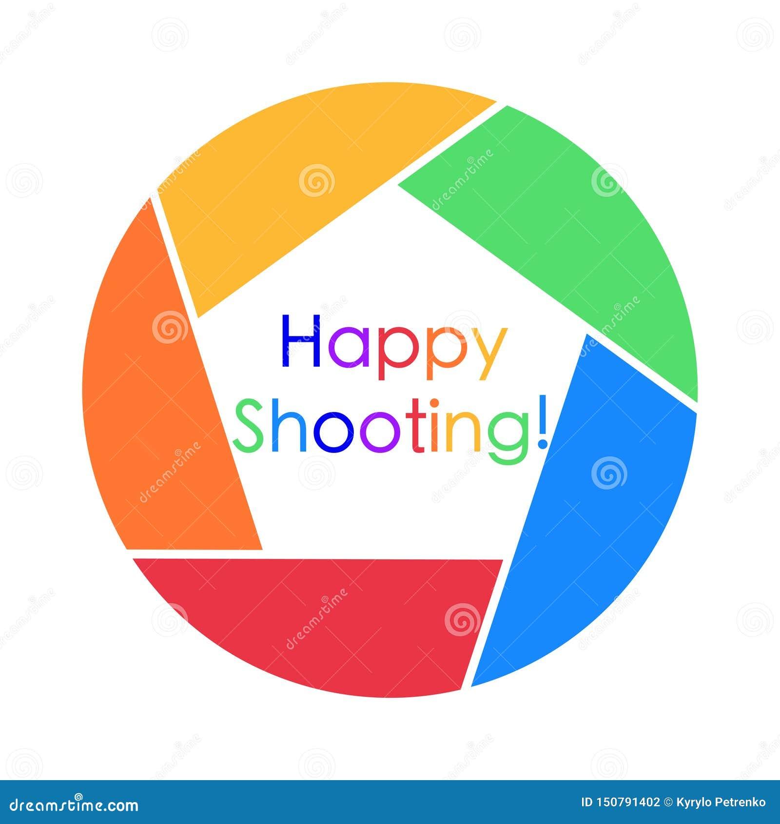 Färgrikt kort med lycklig skjuta hälsning på
