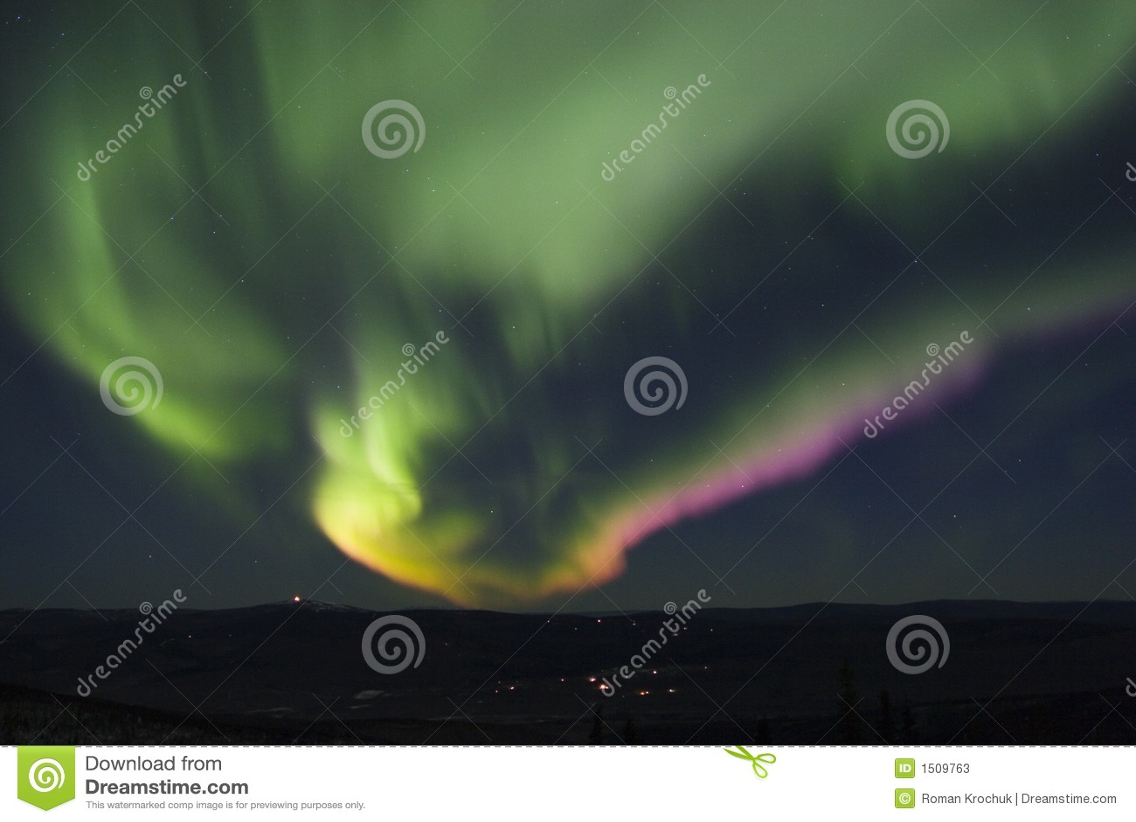 Färgrikt norrsken