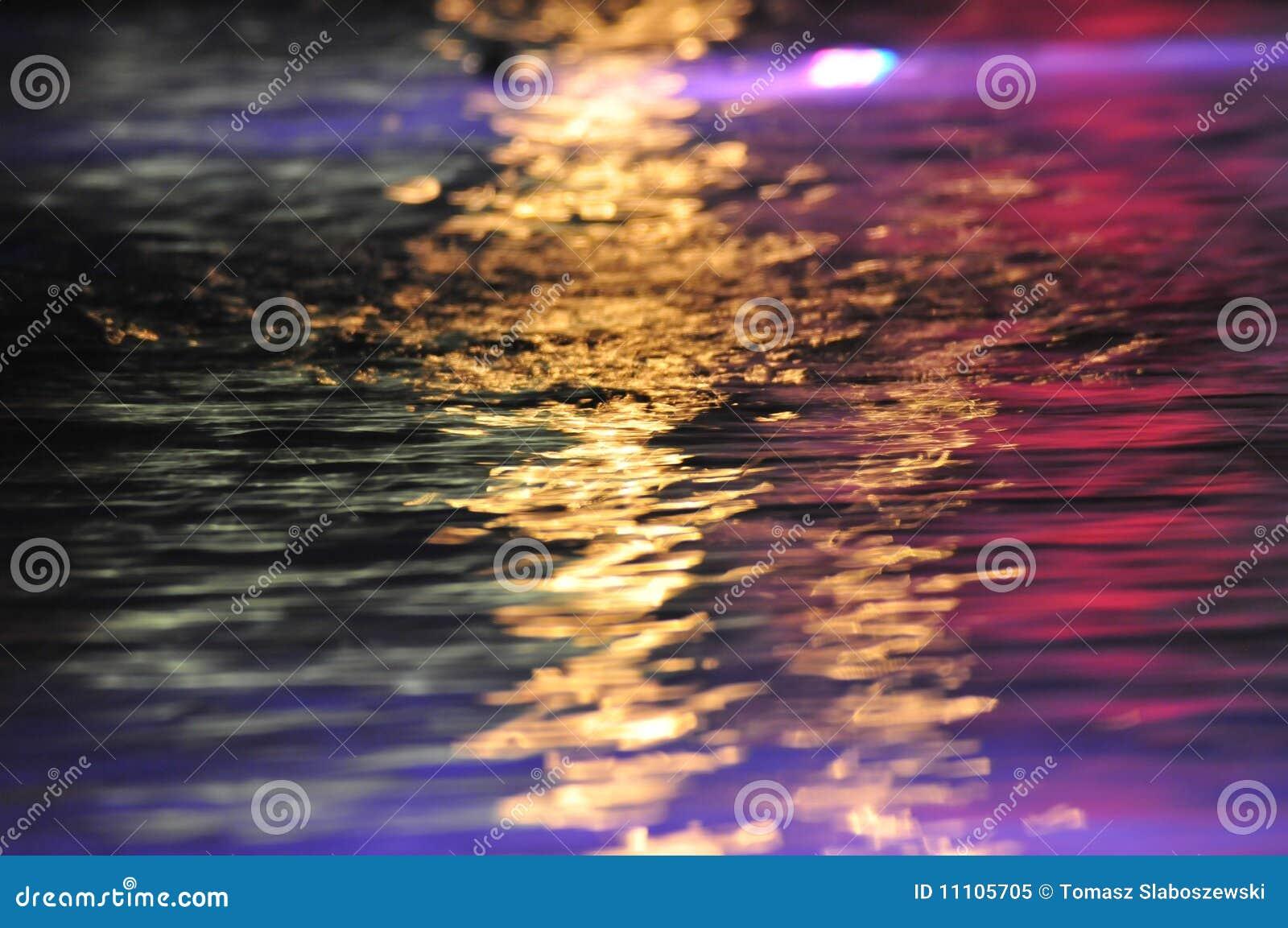 Färgrikt reflexionsvatten