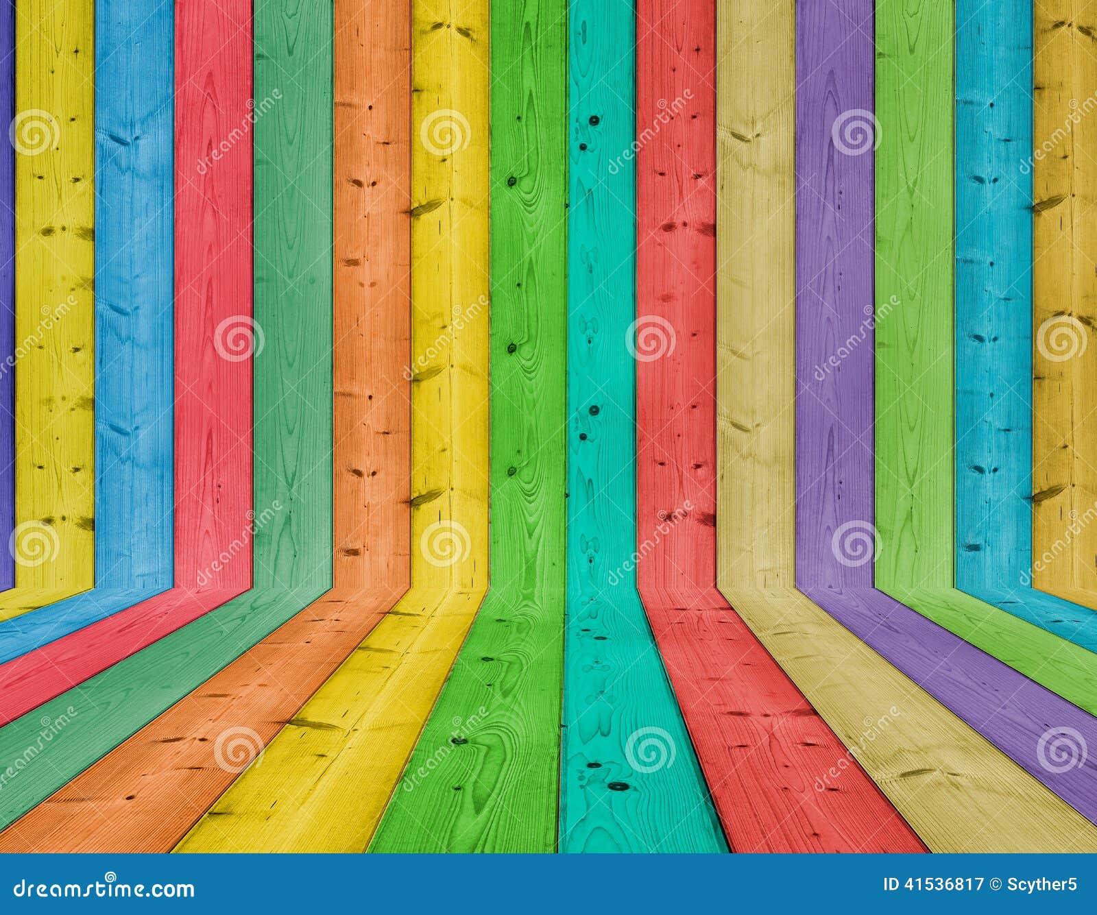 Färgrikt trä för bakgrund