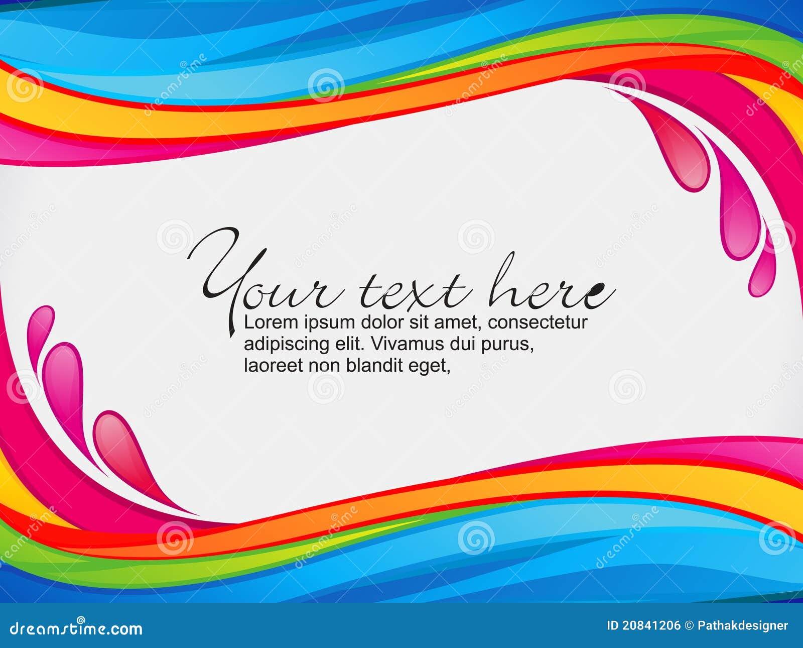 Färgstänk för regnbåge för abstrakt kantfärg färgrik