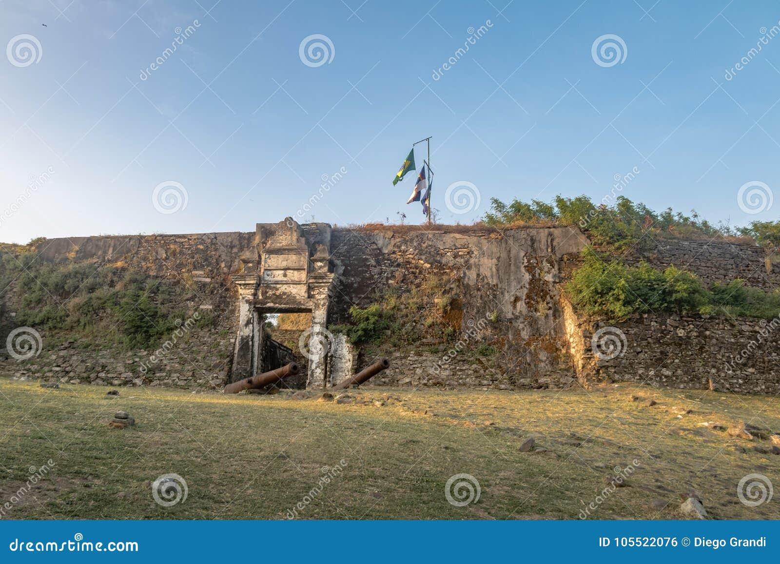 Fästning för Nossa Senhora DOS Remedios - Fernando de Noronha, Pernambuco, Brasilien
