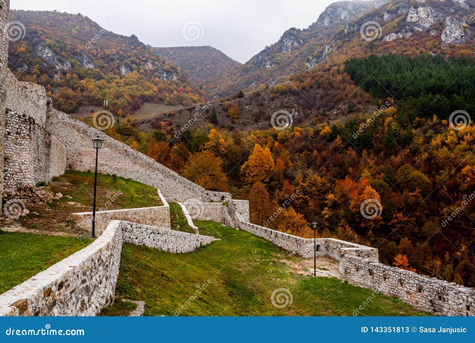 Fästning i Travnik Bosnien och Hercegovina