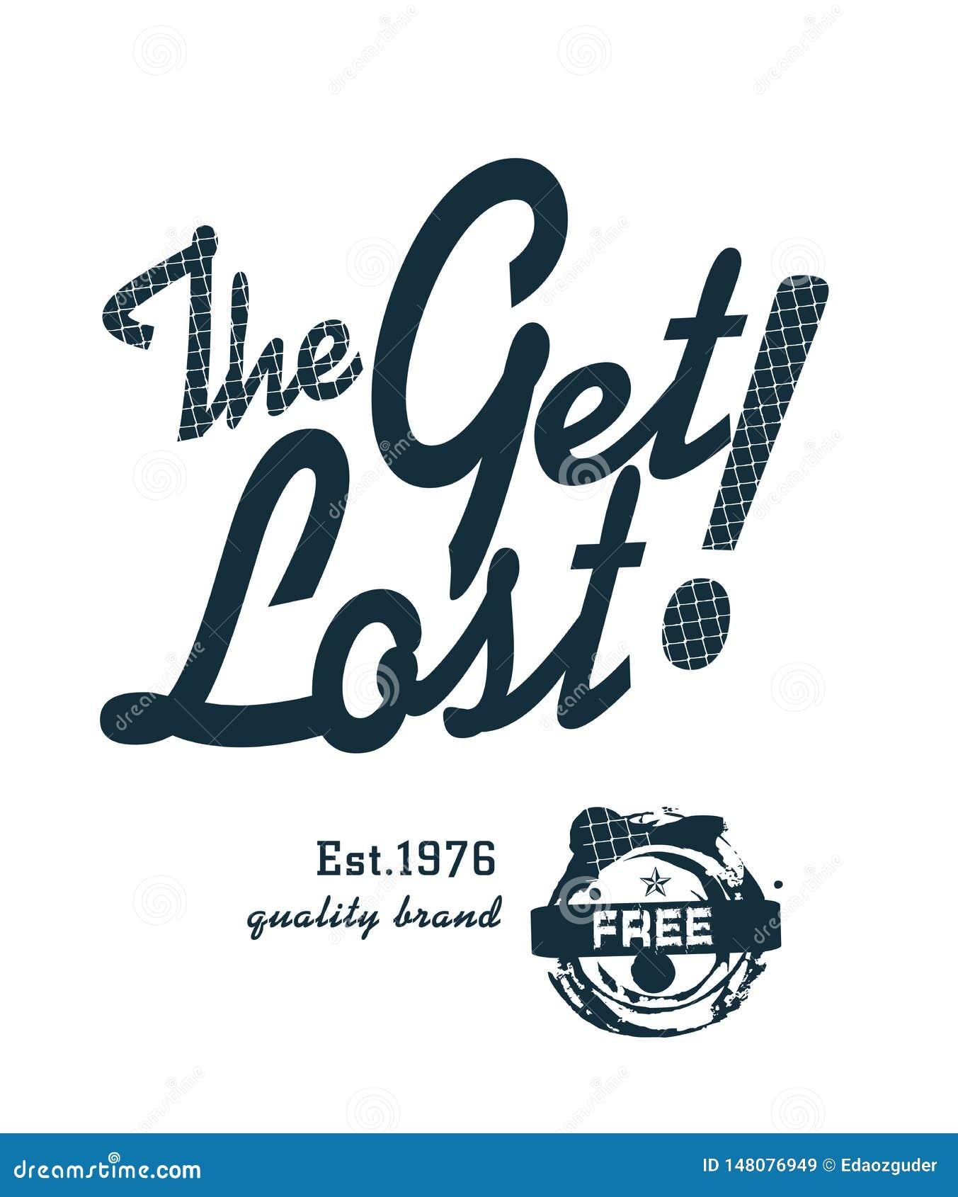 'få förlorad 'typografi, sportsliga utslagsplatsskjortadiagram