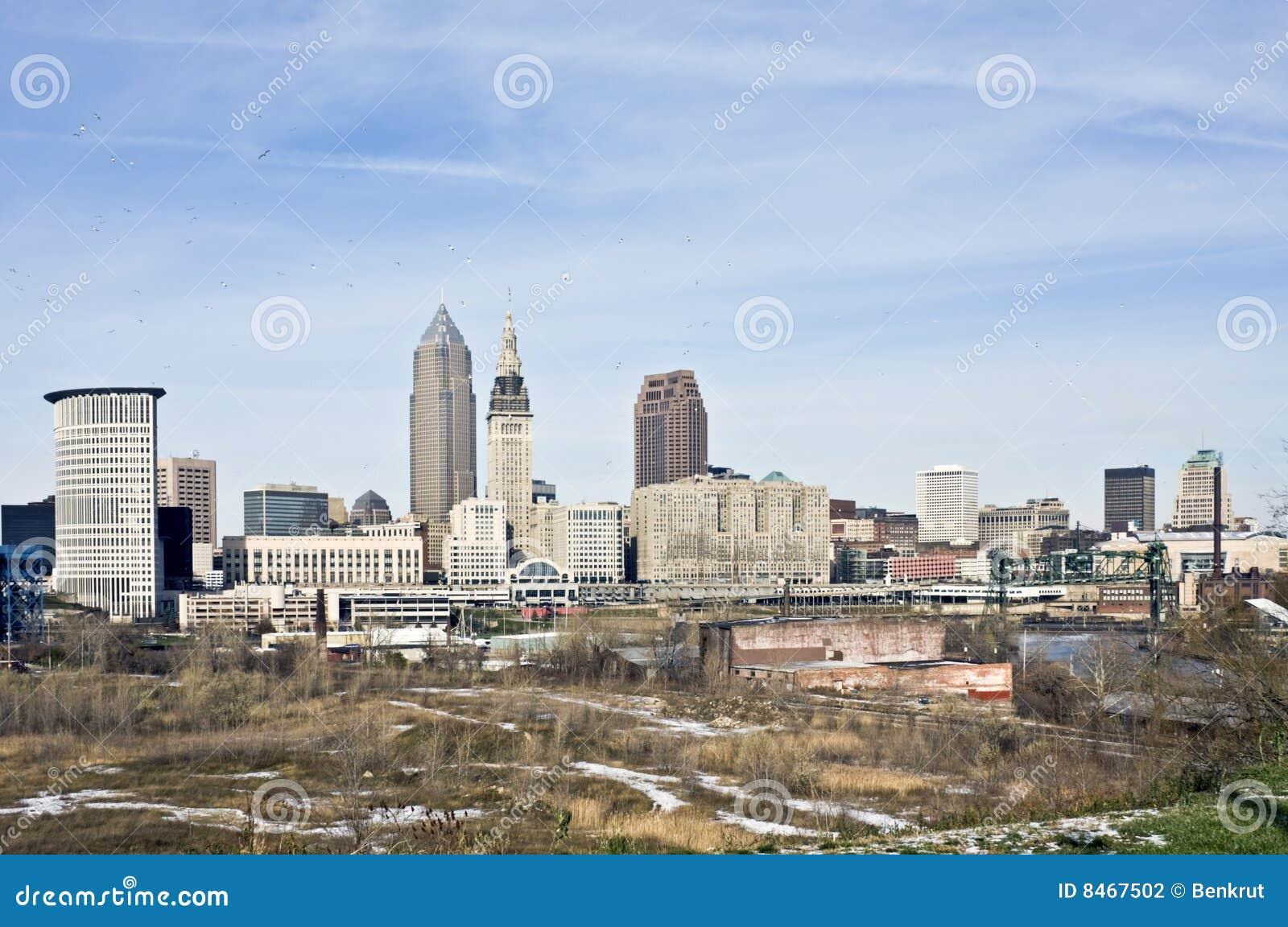 Fågelcleveland i stadens centrum over
