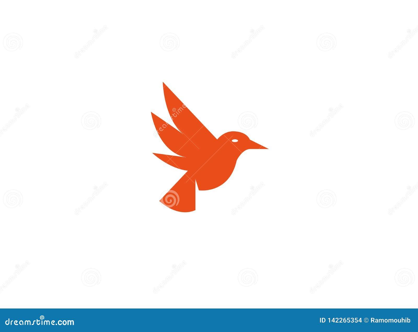 Fågeln dök öppna vingar och flyger för logo