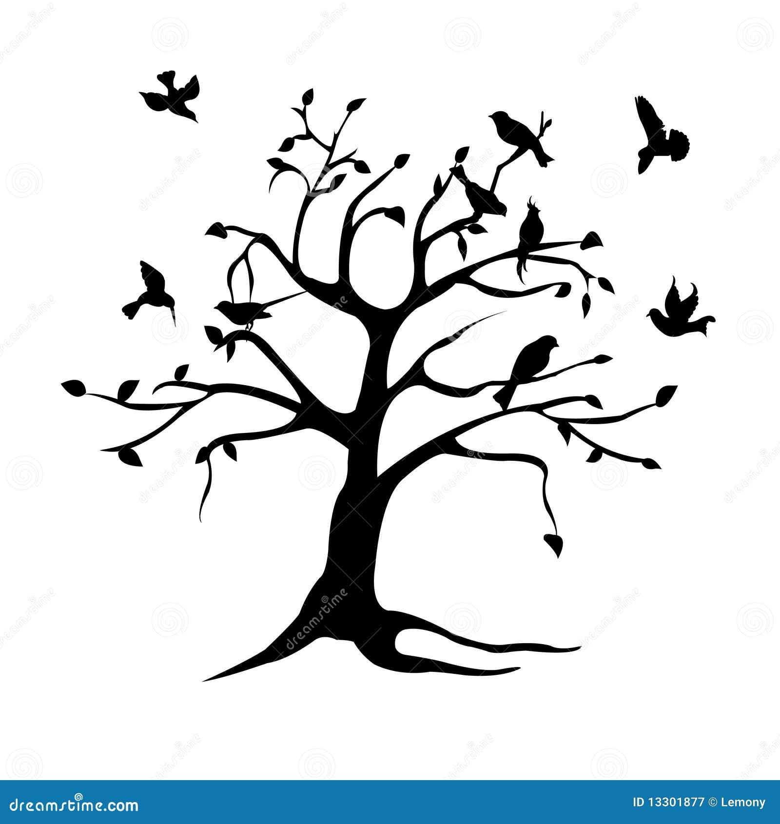 Fågelsilhouettetree