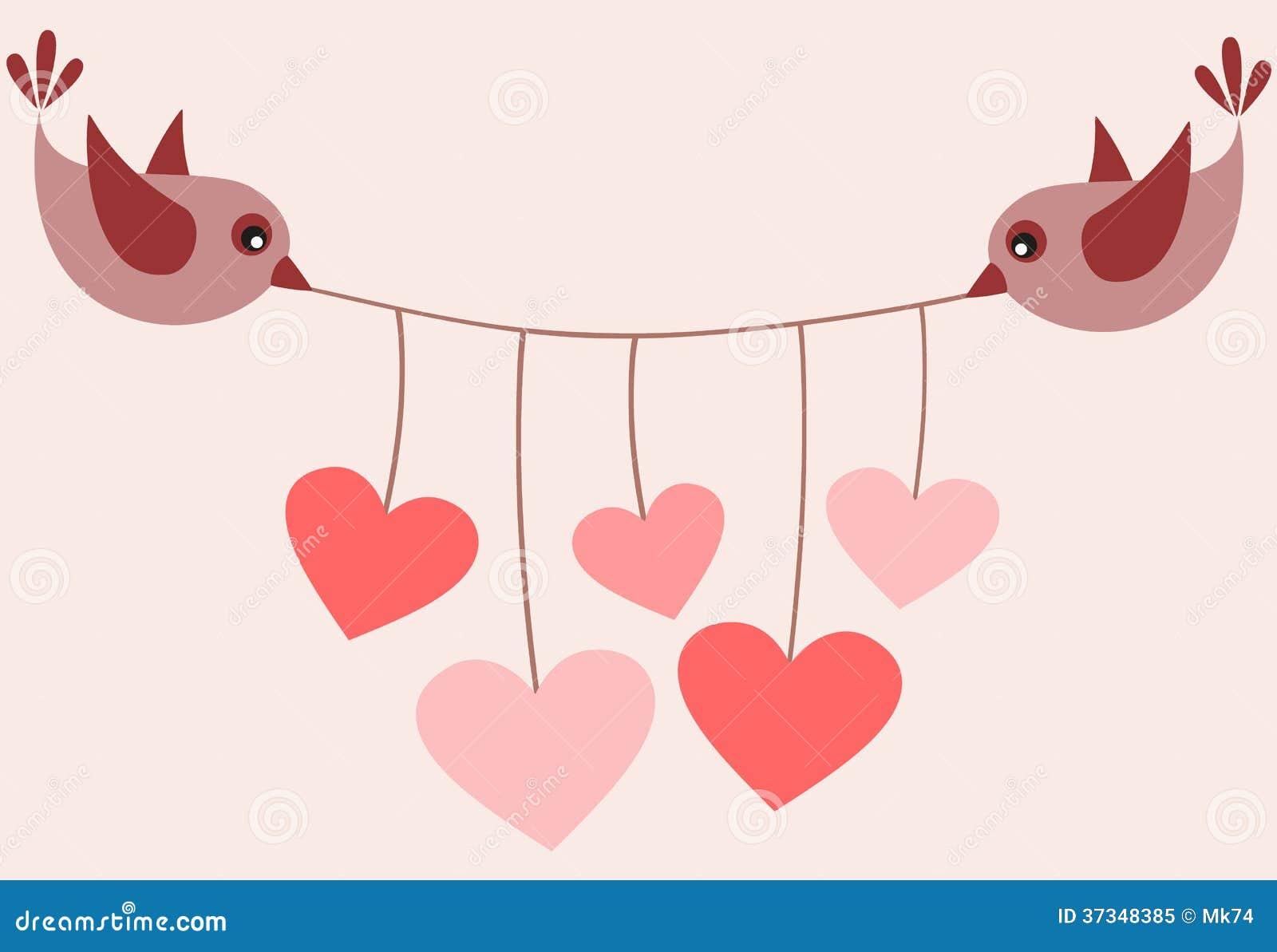 Fåglar och hjärtor