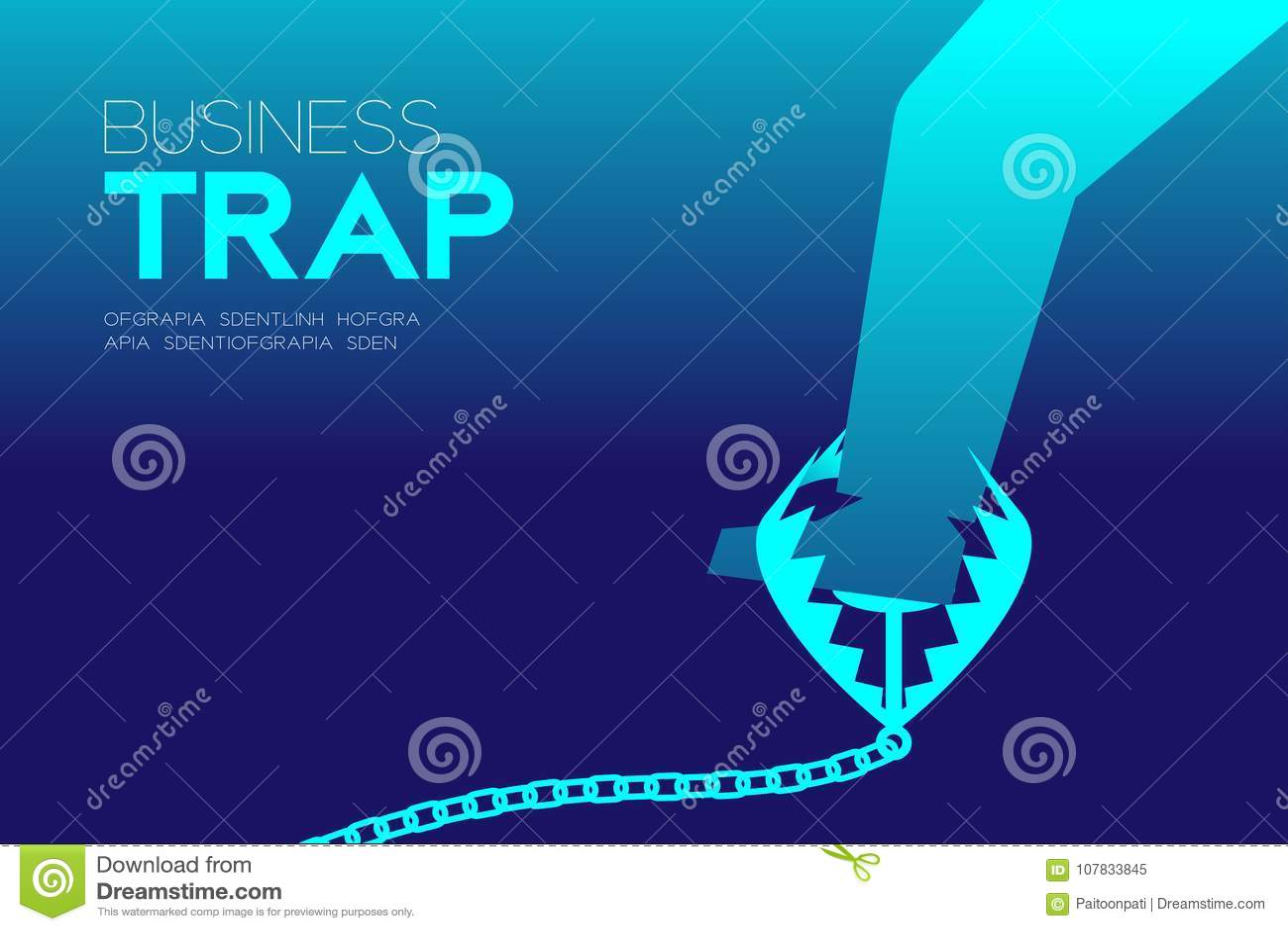 Fångade horisontaluppsättningen för affärsfälladesignen, affärsman begrepp