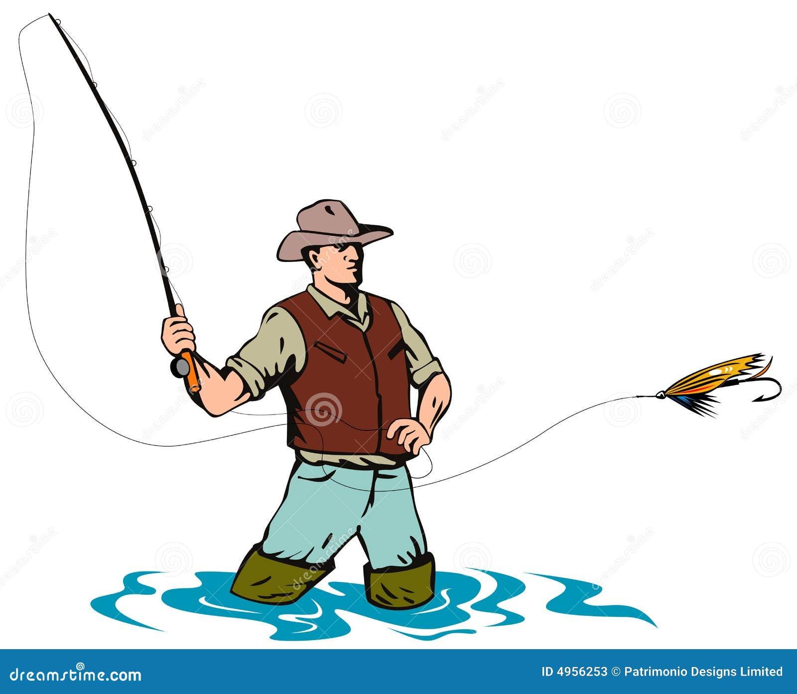 Fångande klipsk forell för fiskare