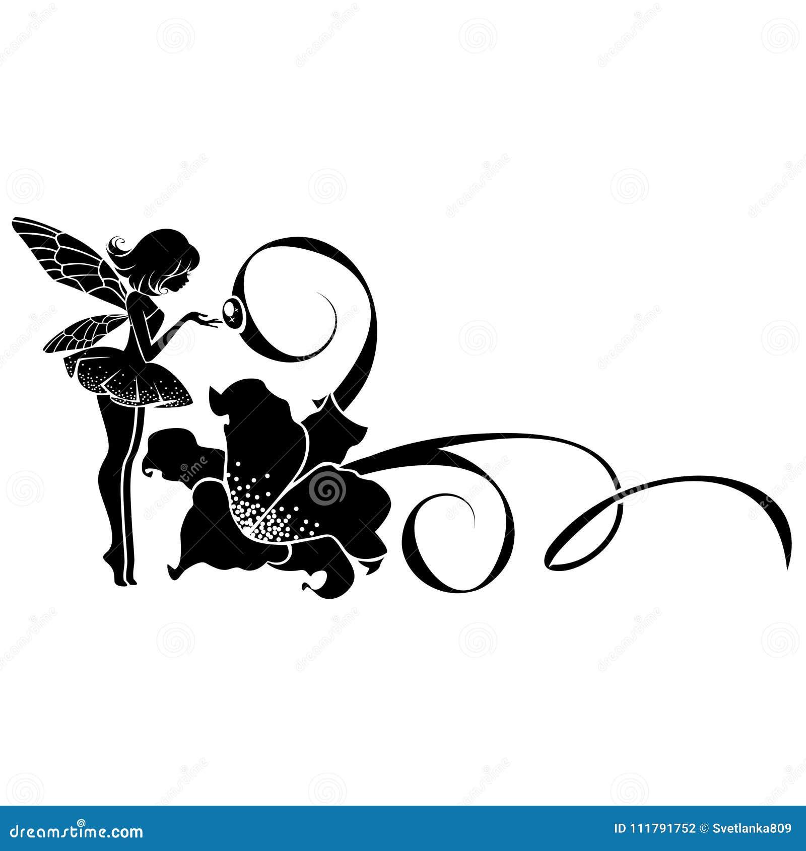 Fee Avec Une Fleur Illustration De Vecteur Illustration Du Dessin