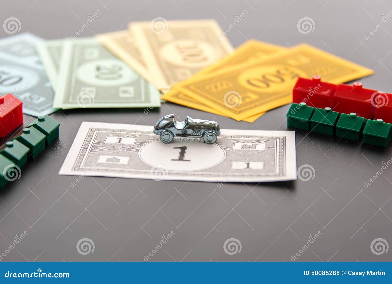 8 février 2015 : Houston, TX, Etats-Unis Voiture de monopole, argent, hôtels