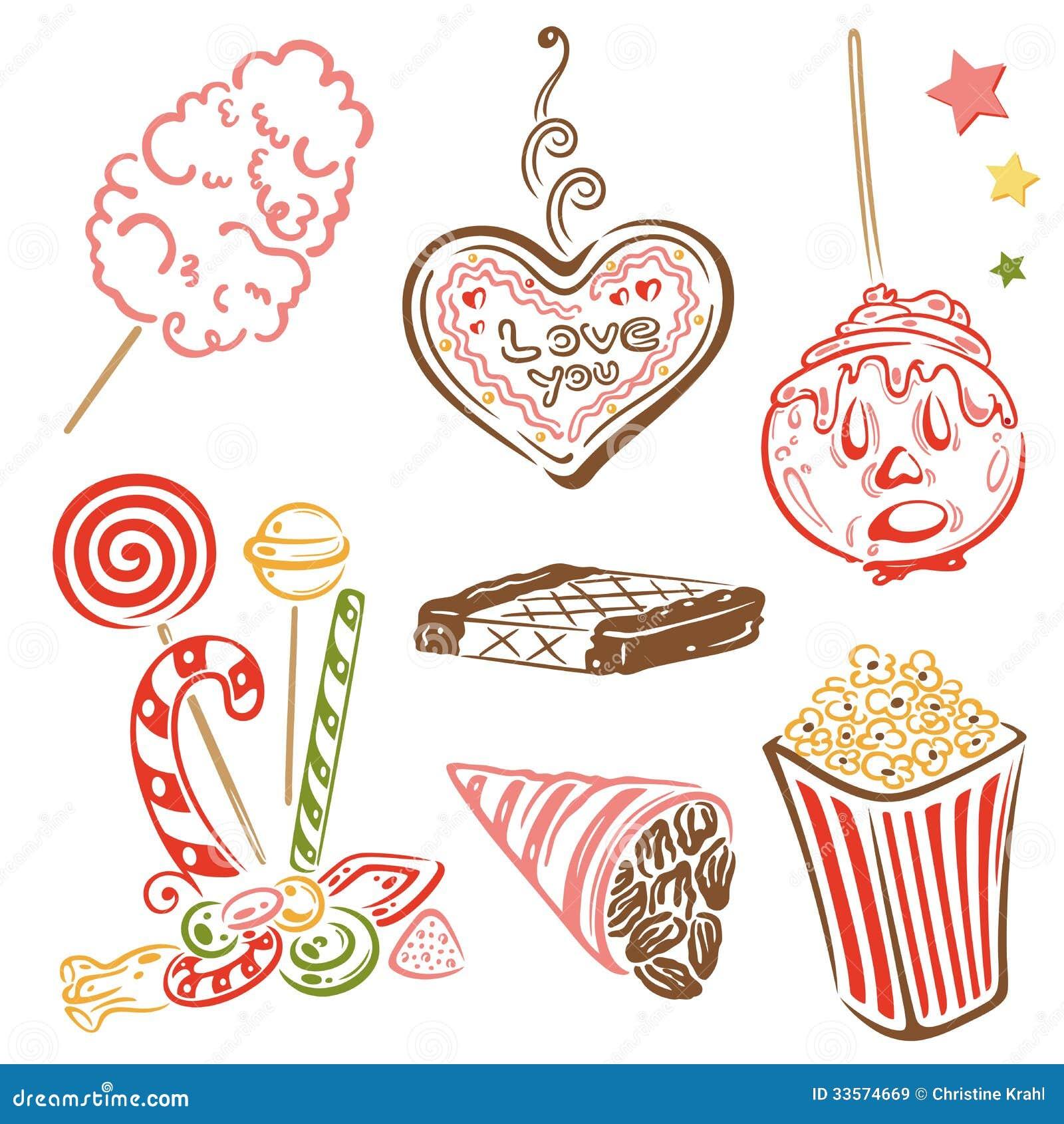 Fete Foraine Bonbons Sucrerie Illustration De Vecteur Illustration Du Foraine Fete 33574669