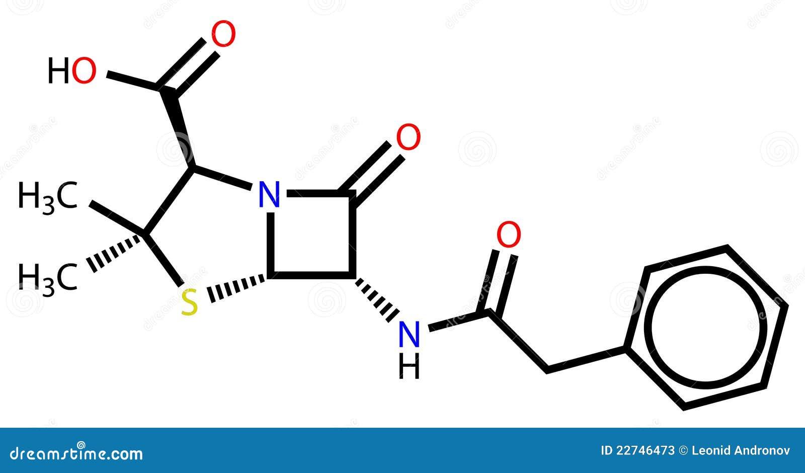 Fórmula estructural de G de la penicilina