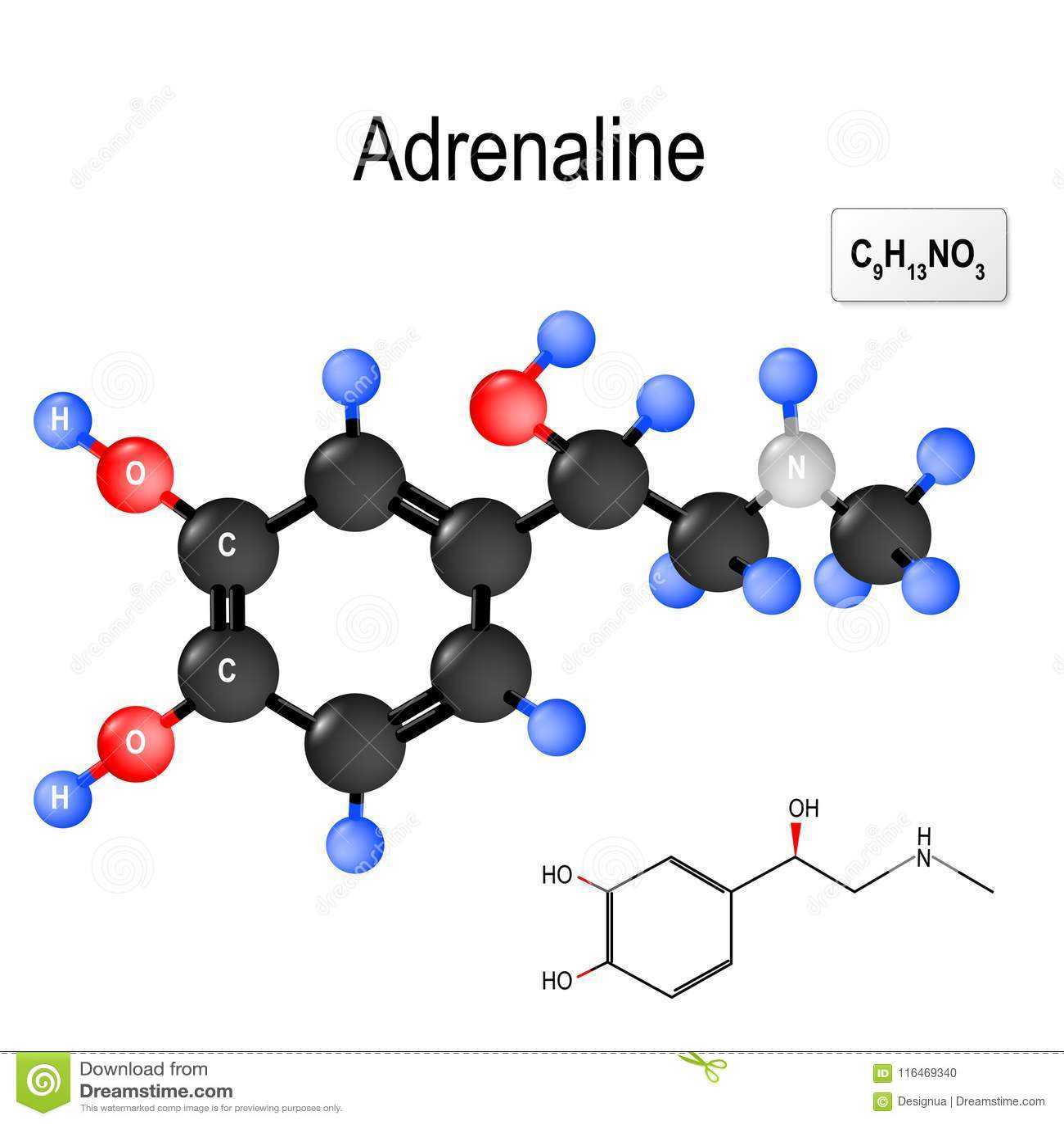 Fórmula Química Y Modelo Estructurales De La Molécula De La
