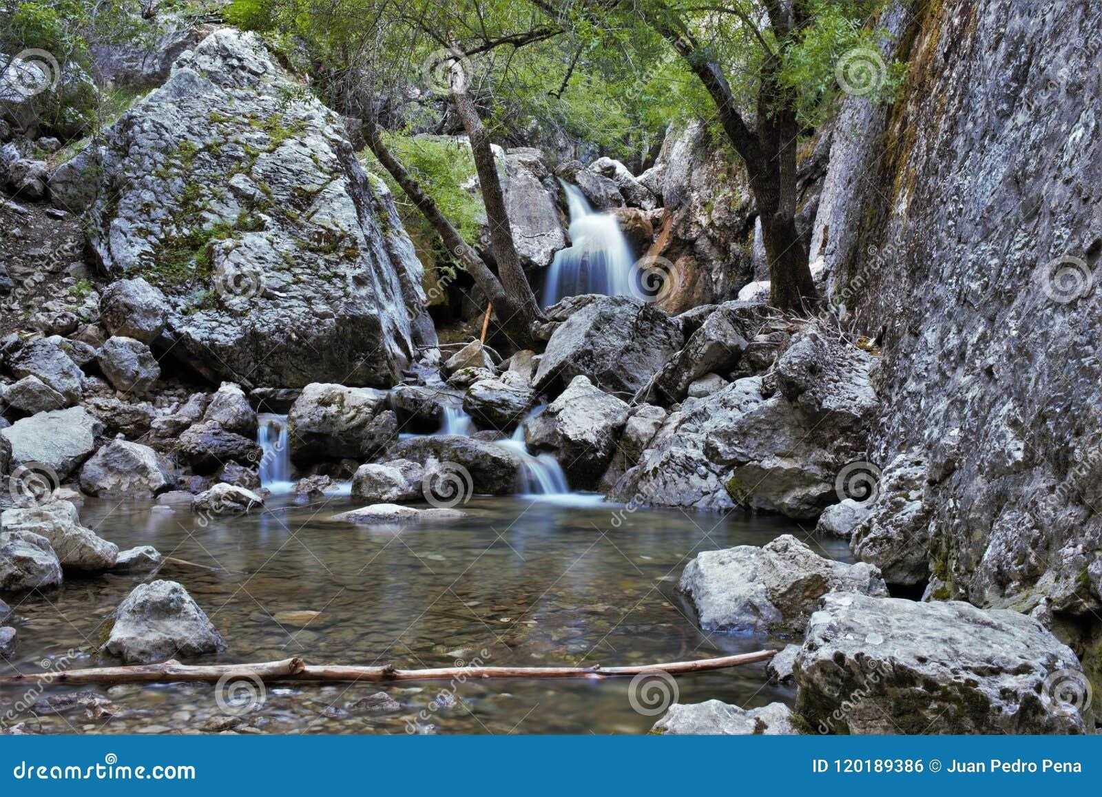 Födelse av den Guadalquivir floden i Cazorla