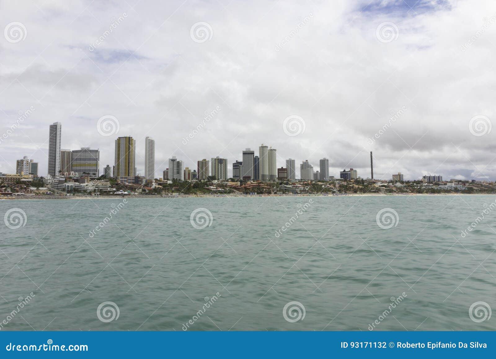 Födelse- Ponta Negra strand, RN, Brasilien