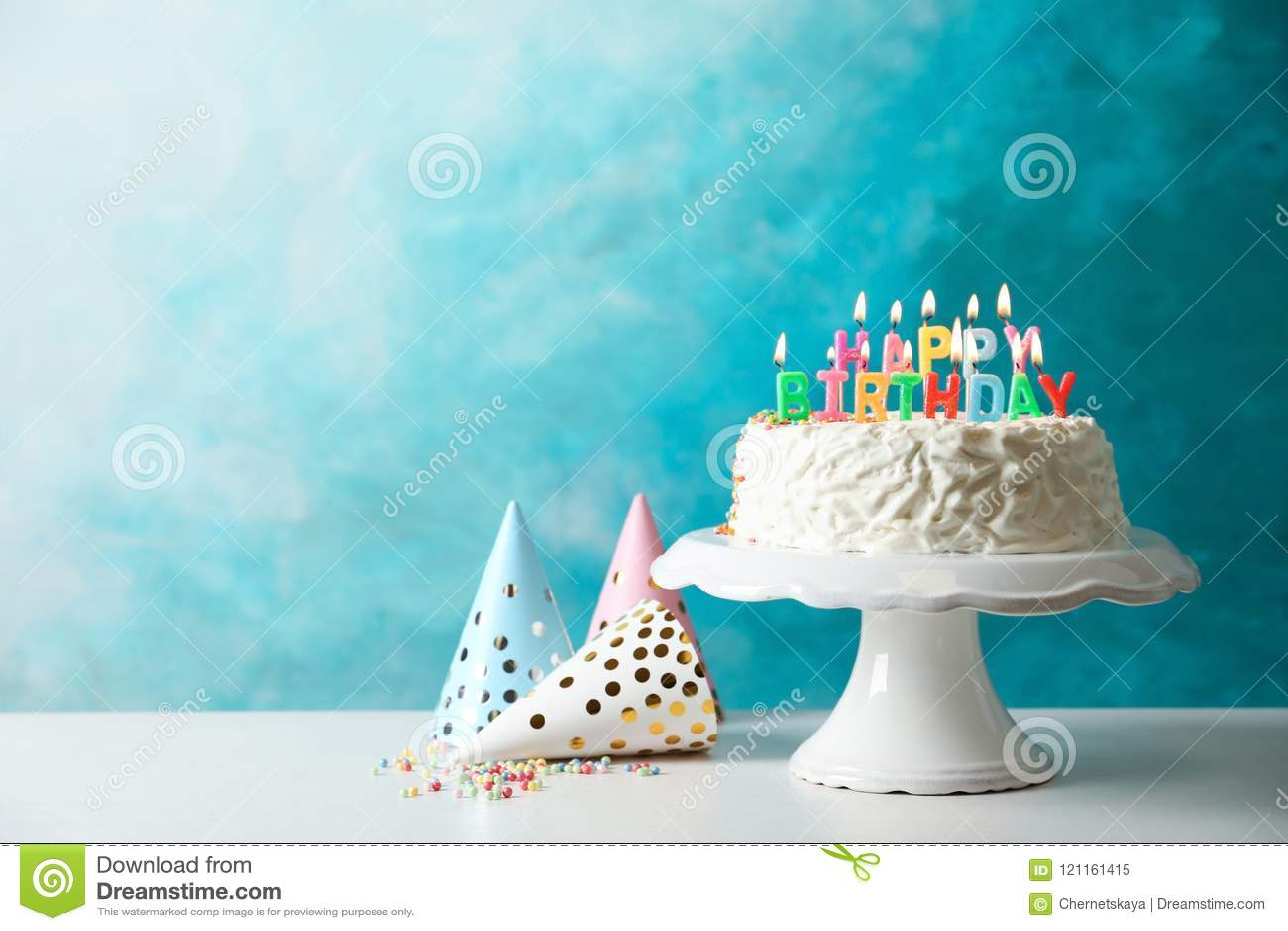 Födelsedagcaken undersöker illustrationvektorn