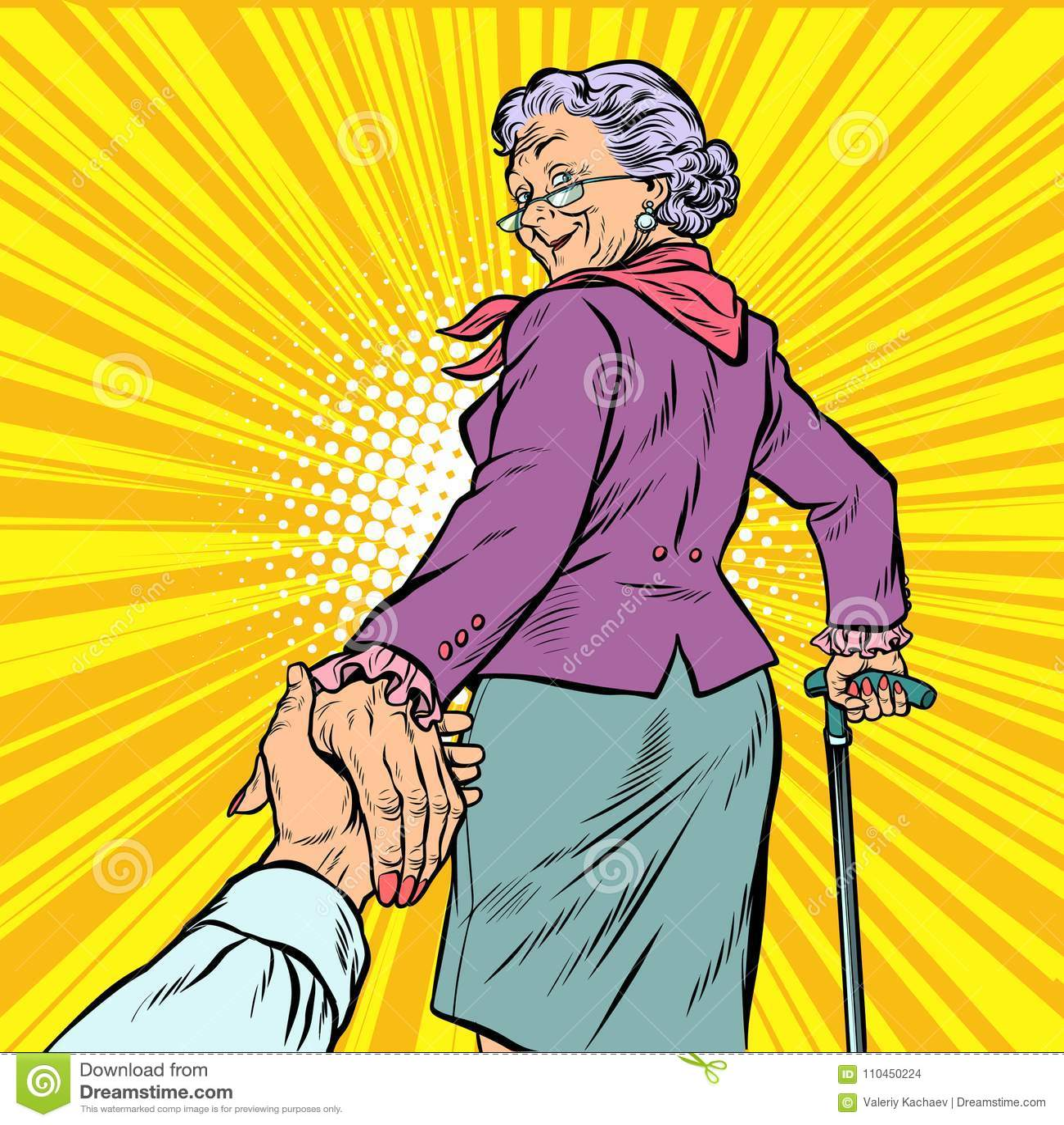 Följ mig den mogna handen för kvinnafarmorblytak