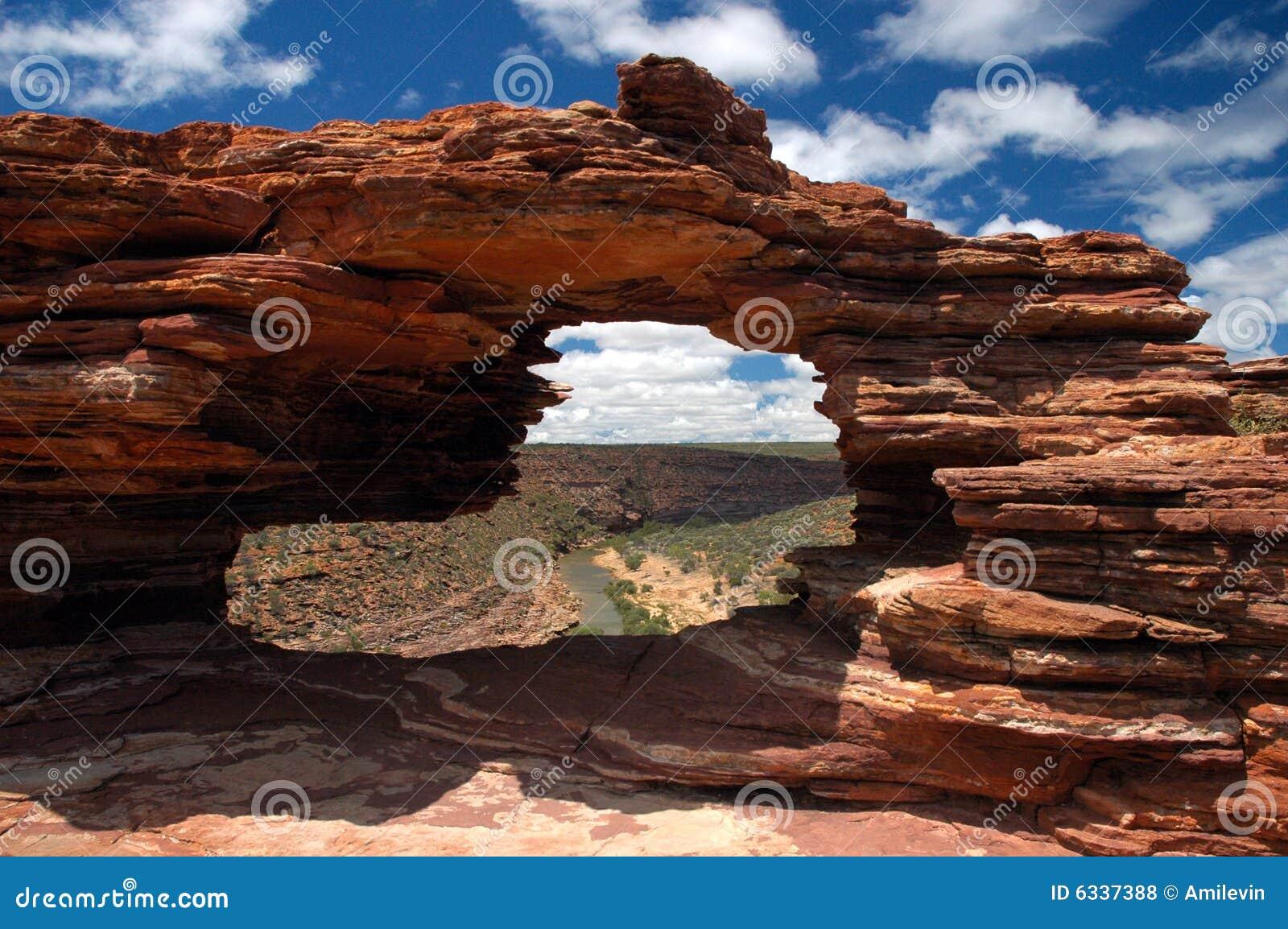Fönster för wa för Australien natur s