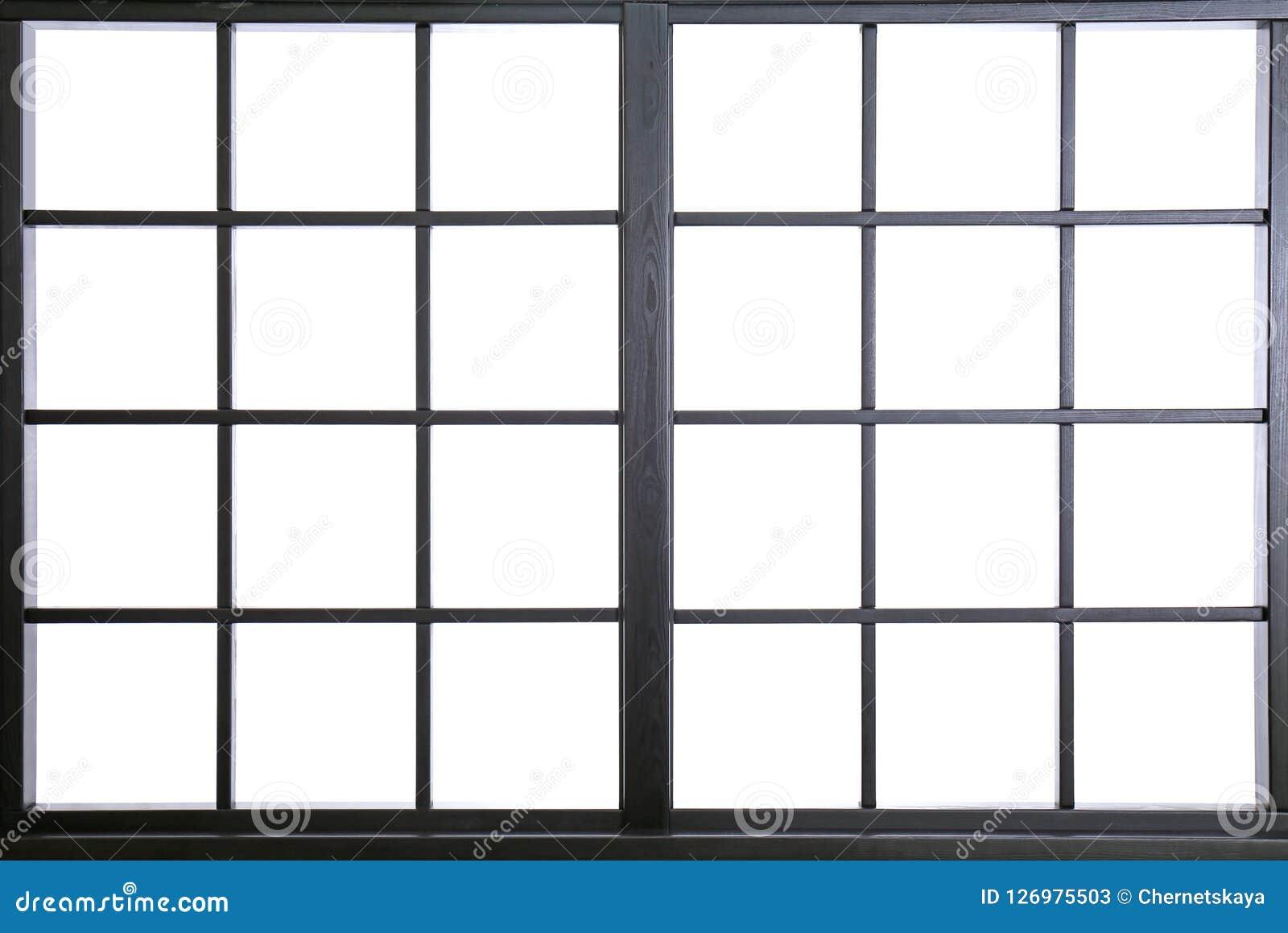 Fönsterram med exponeringsglas, closeup
