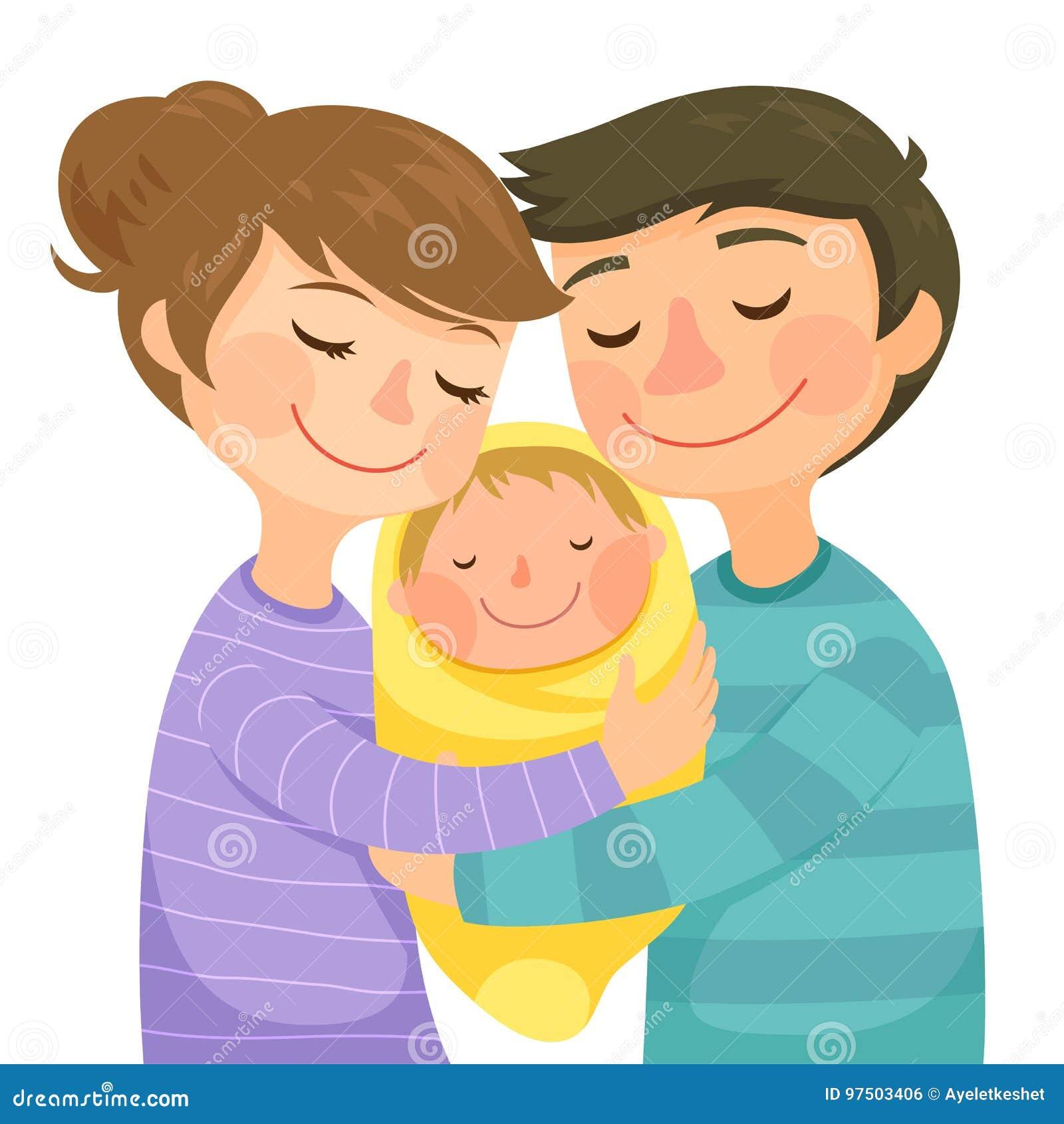 Föräldrar och en behandla som ett barn