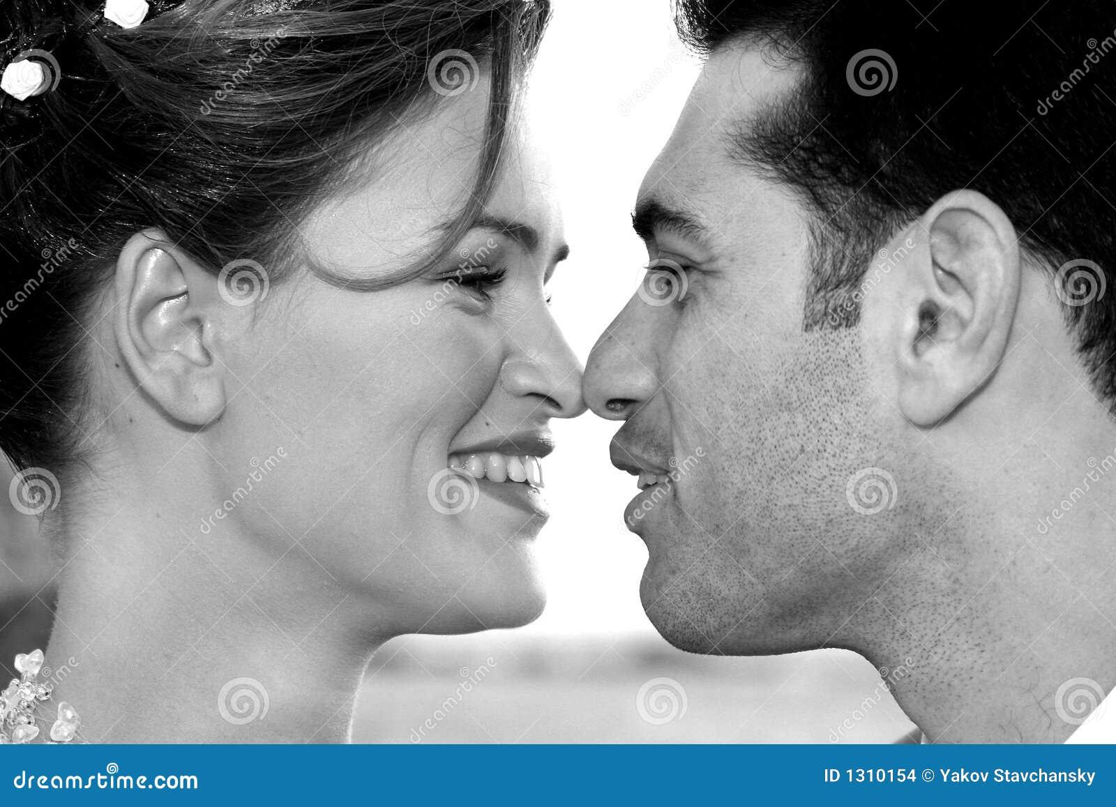 Förälskad kyss två