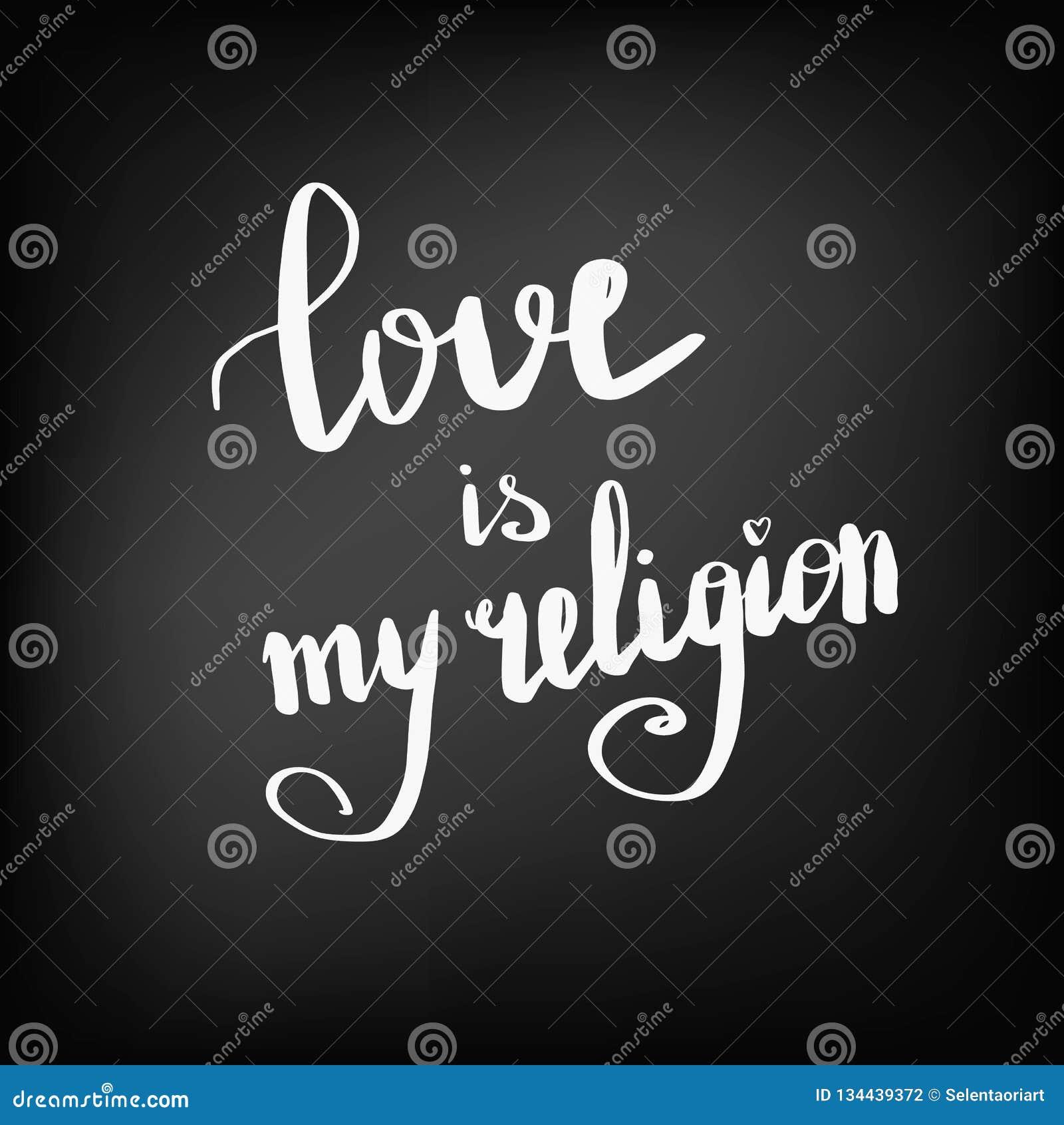 Förälskelse är Min Svart Tavla För Religionen Vektor