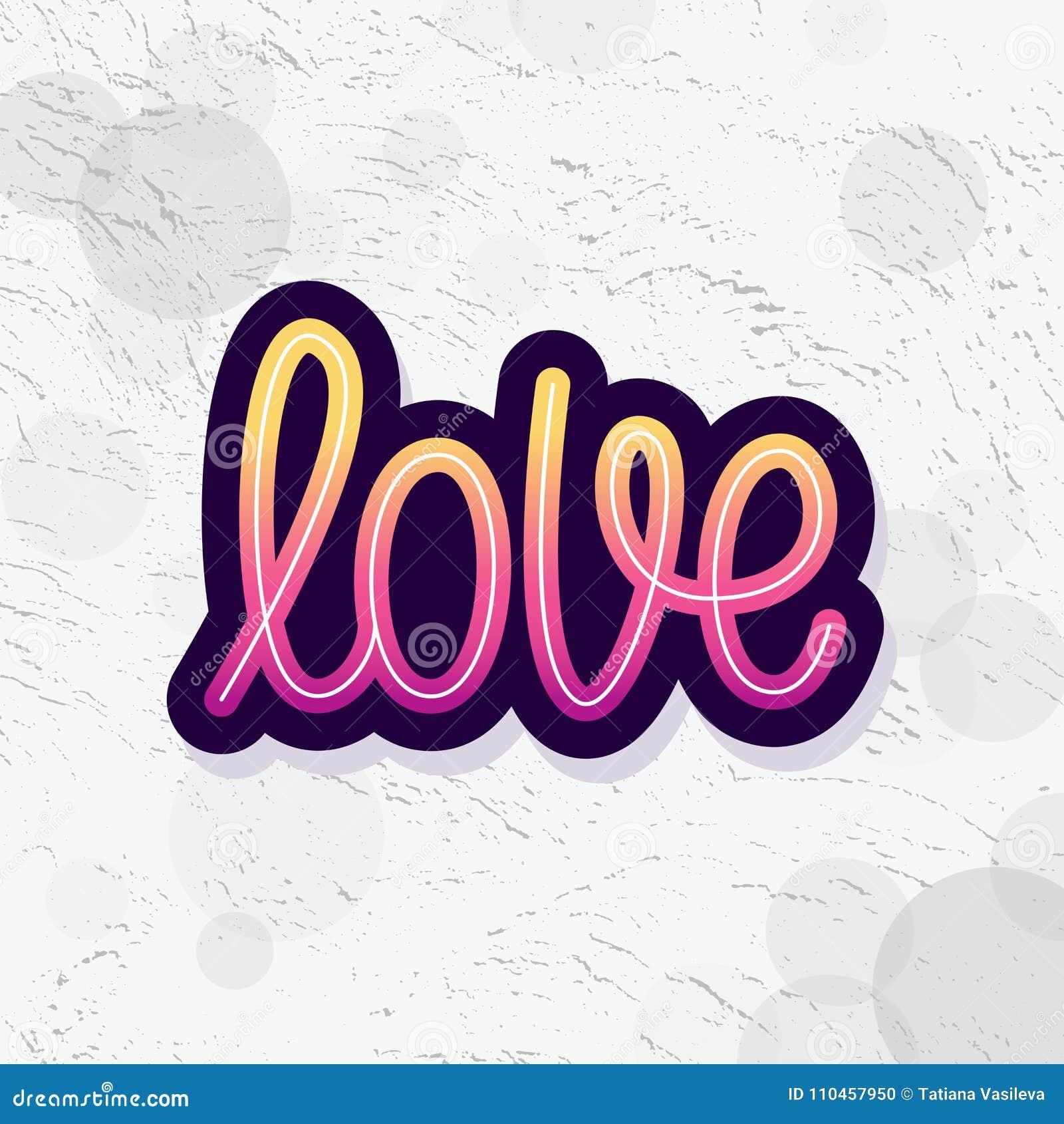Förälskelse Enkelt ord Modern monolinekalligrafitext Beståndsdel för lyckliga Valentine Day också vektor för coreldrawillustratio