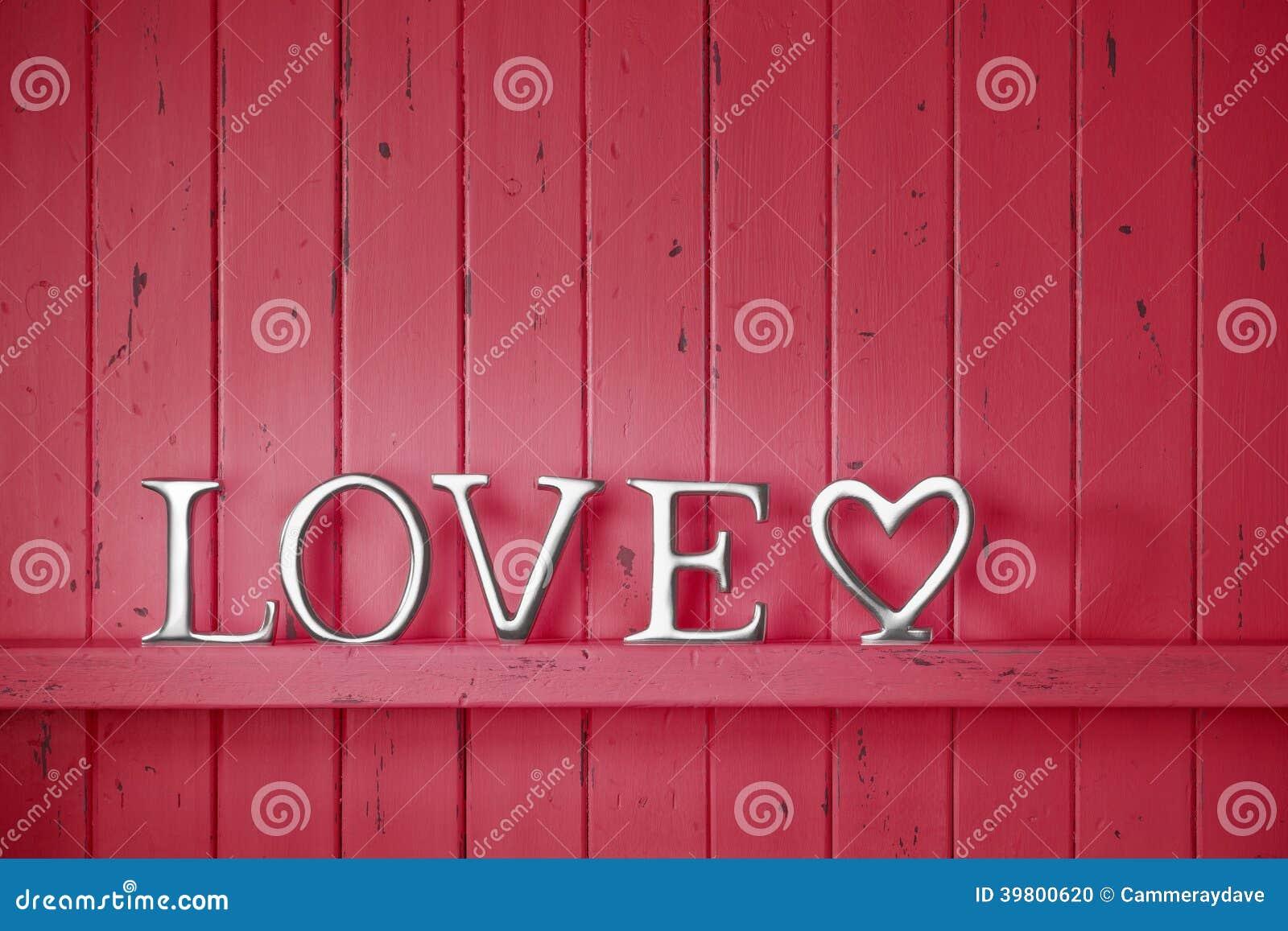 Förälskelse röda Valentine Background