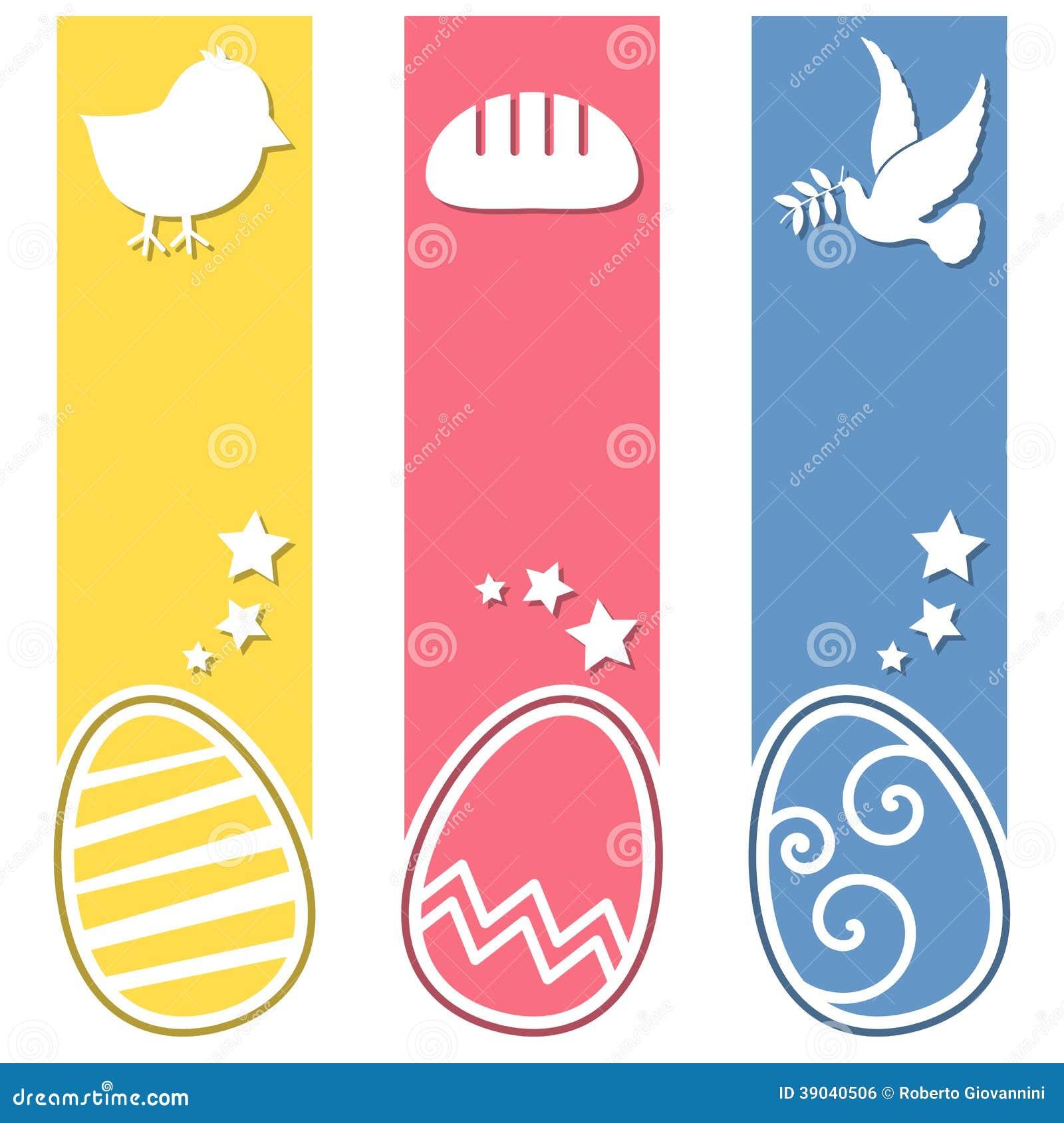För ägglodlinje för påsk Retro baner