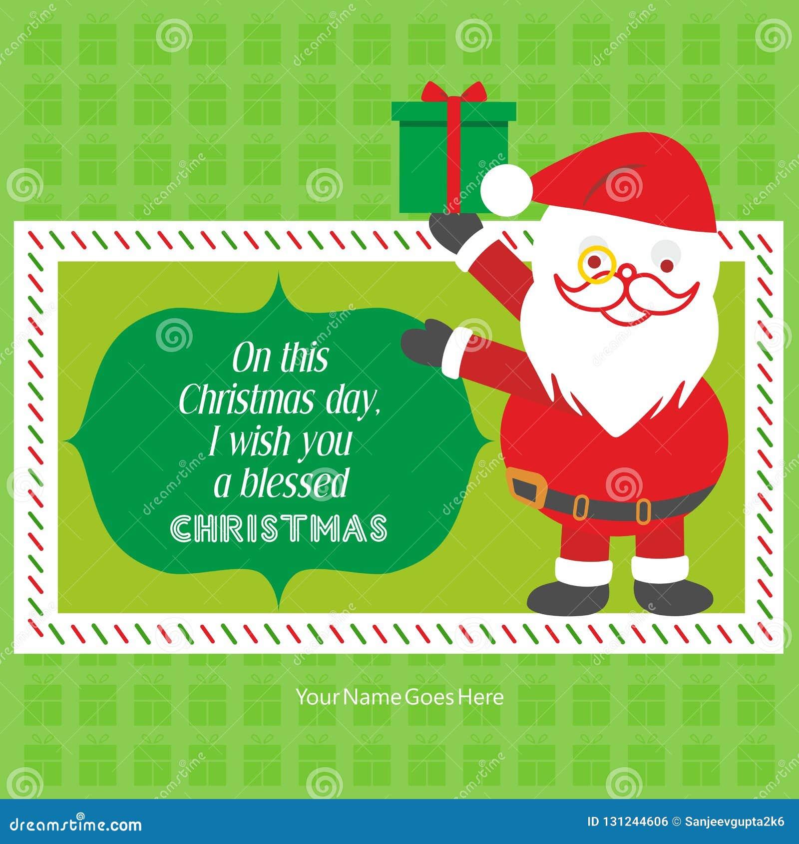 För önskahälsning för glad jul mall