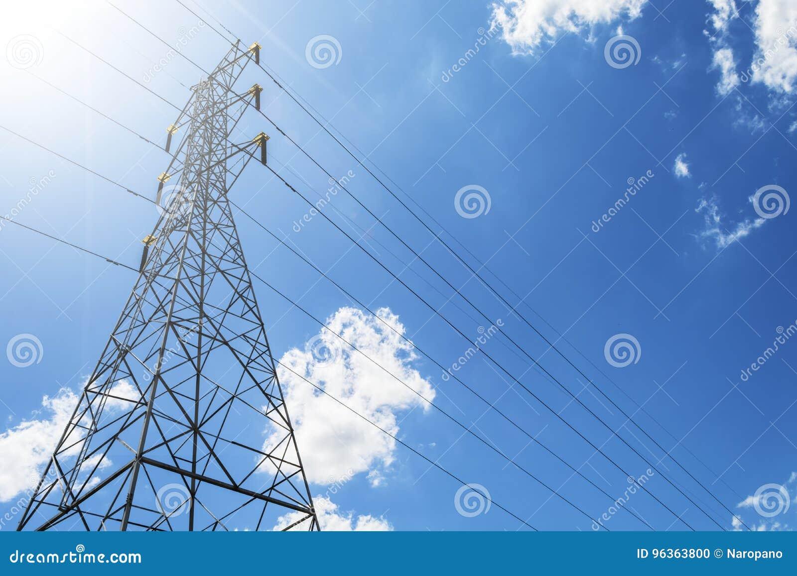 För överföringstorn för hög spänning elektrisk pylon för energi mot th