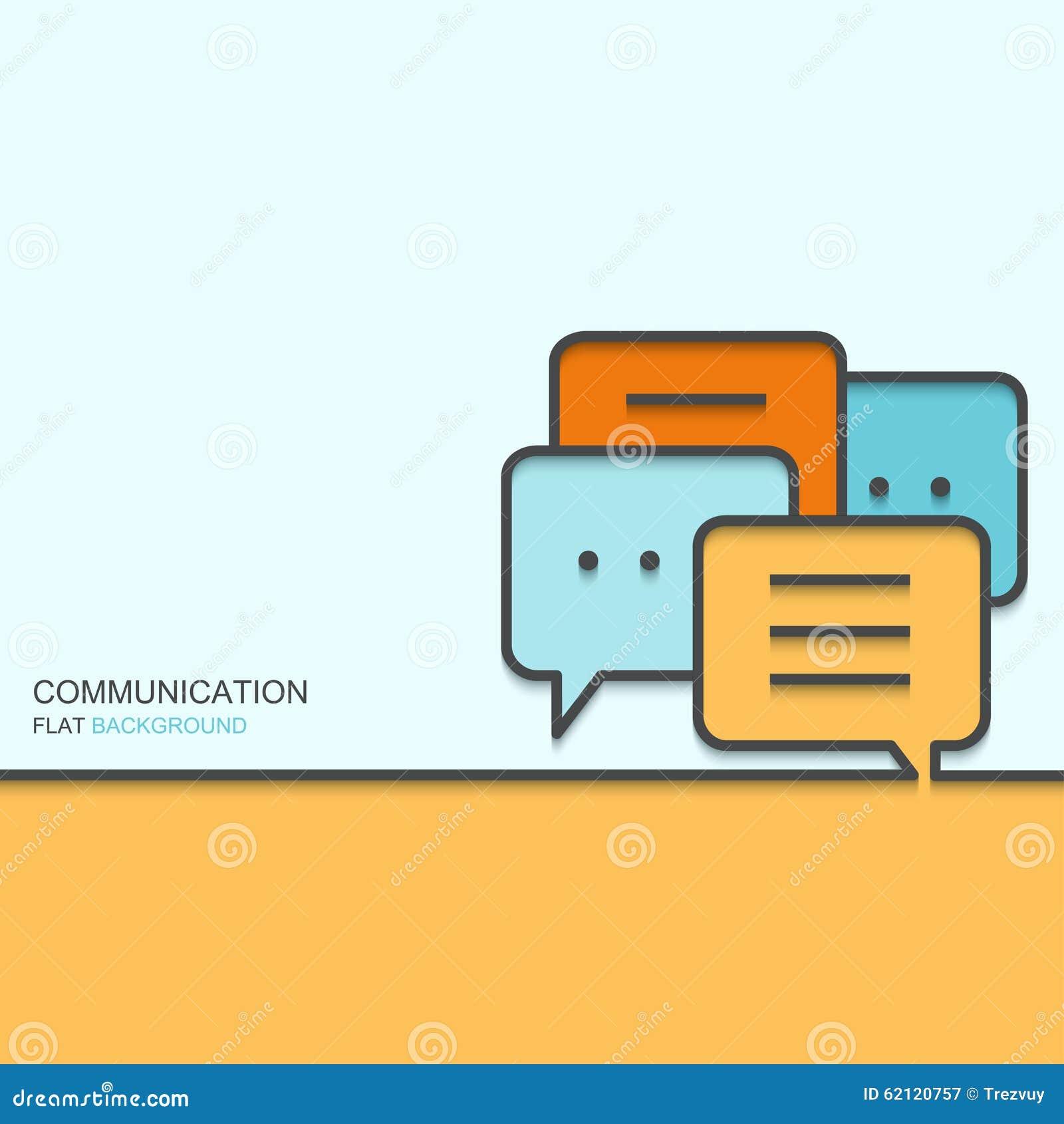 För översiktslägenhet för vektor modern design av kommunikationen