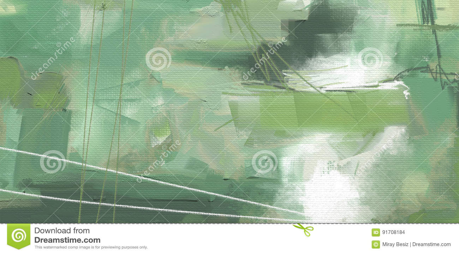 För abstrakt begreppstil för olje- målning konstverk på kanfas