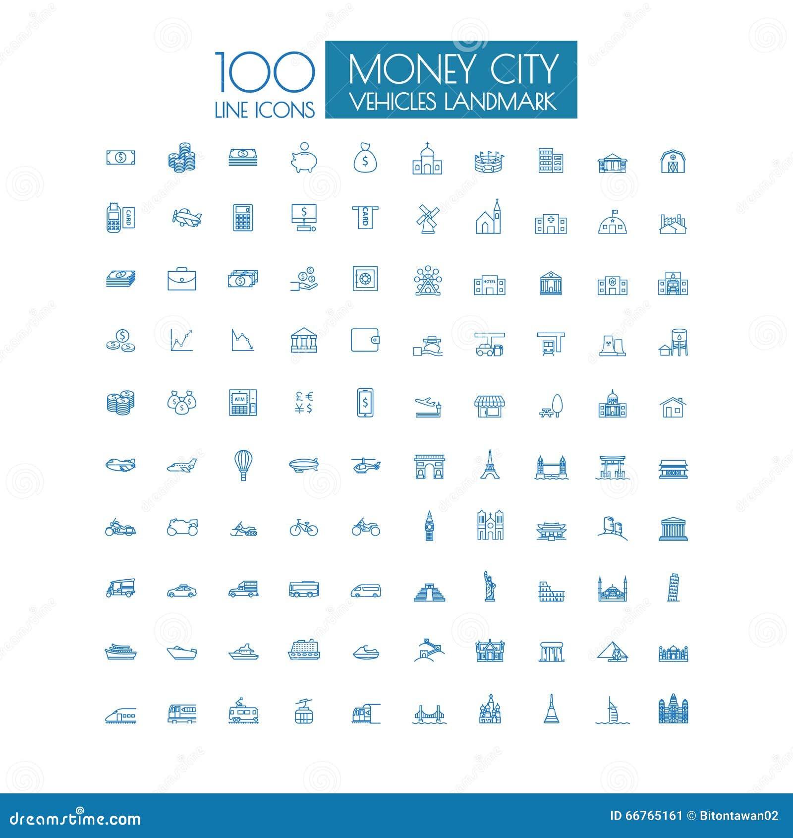 För affärslopp för 100 symboler gränsmärke och offentligt trans.