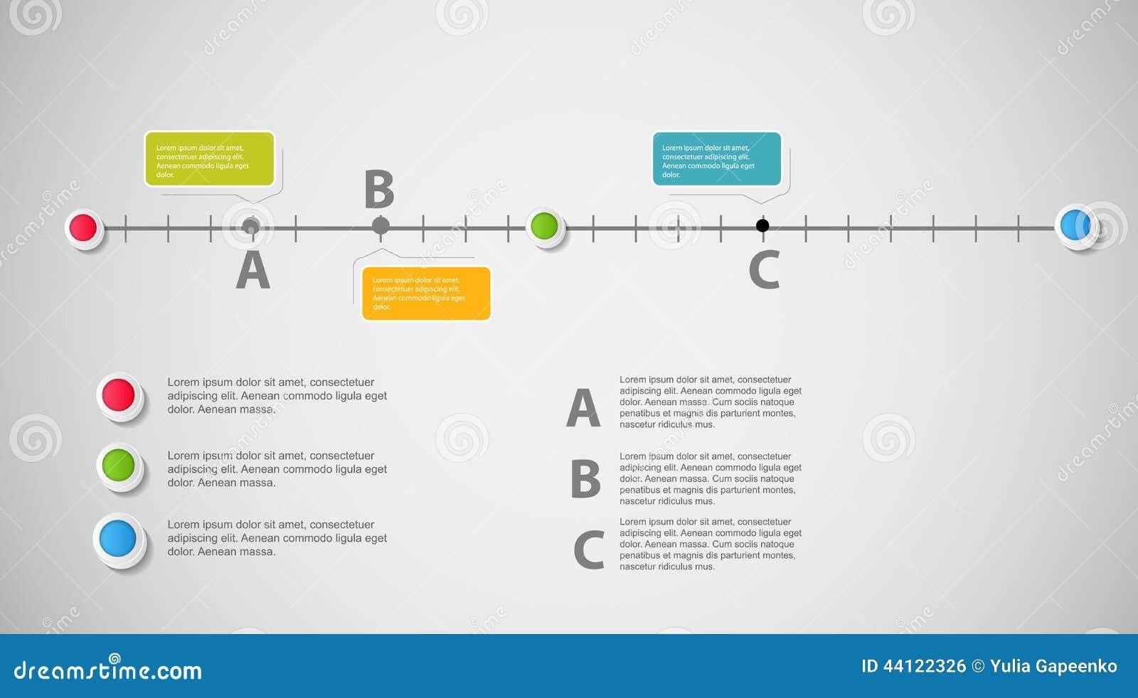För affärsmall för Timeline infographic vektor